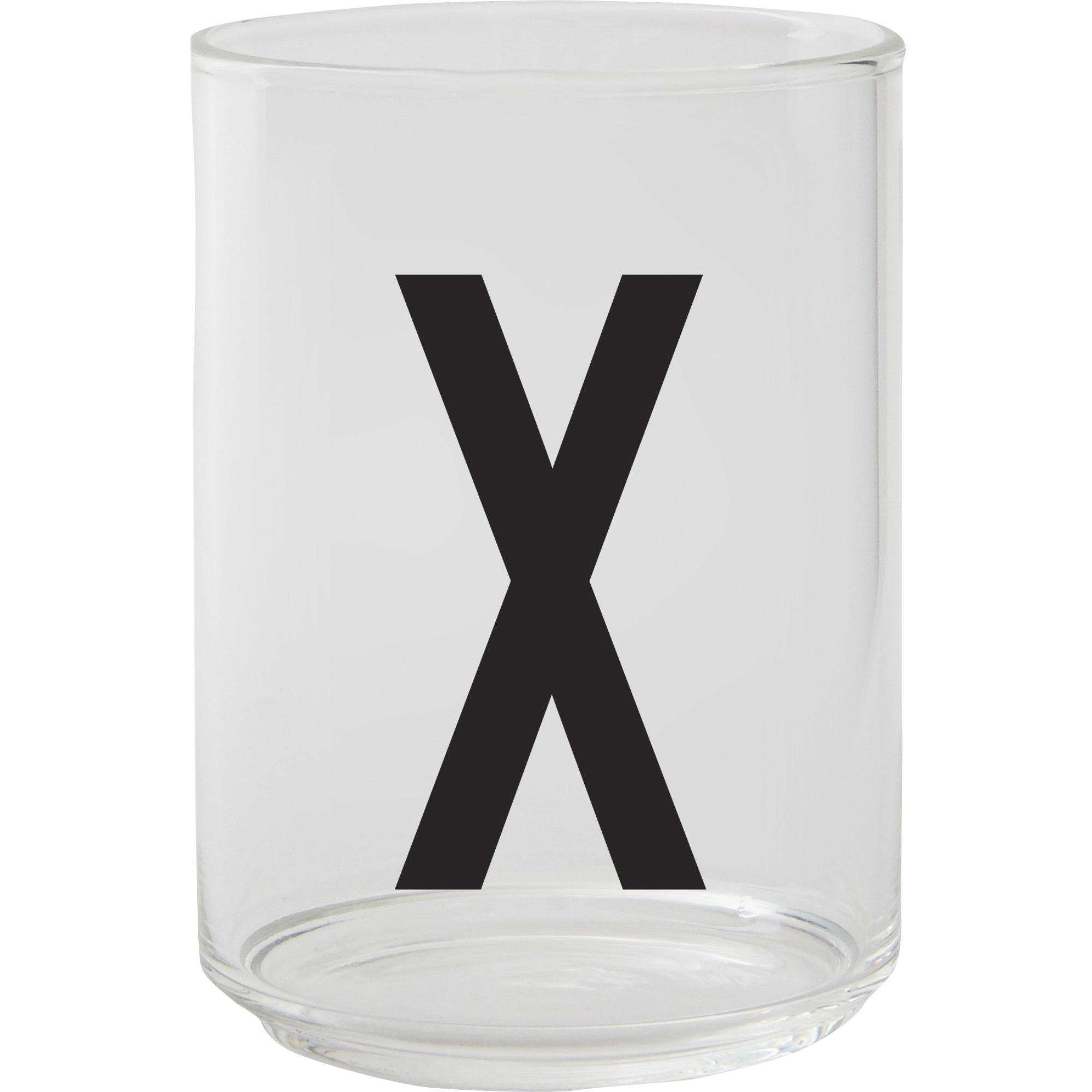 Design Letters Dricksglas X