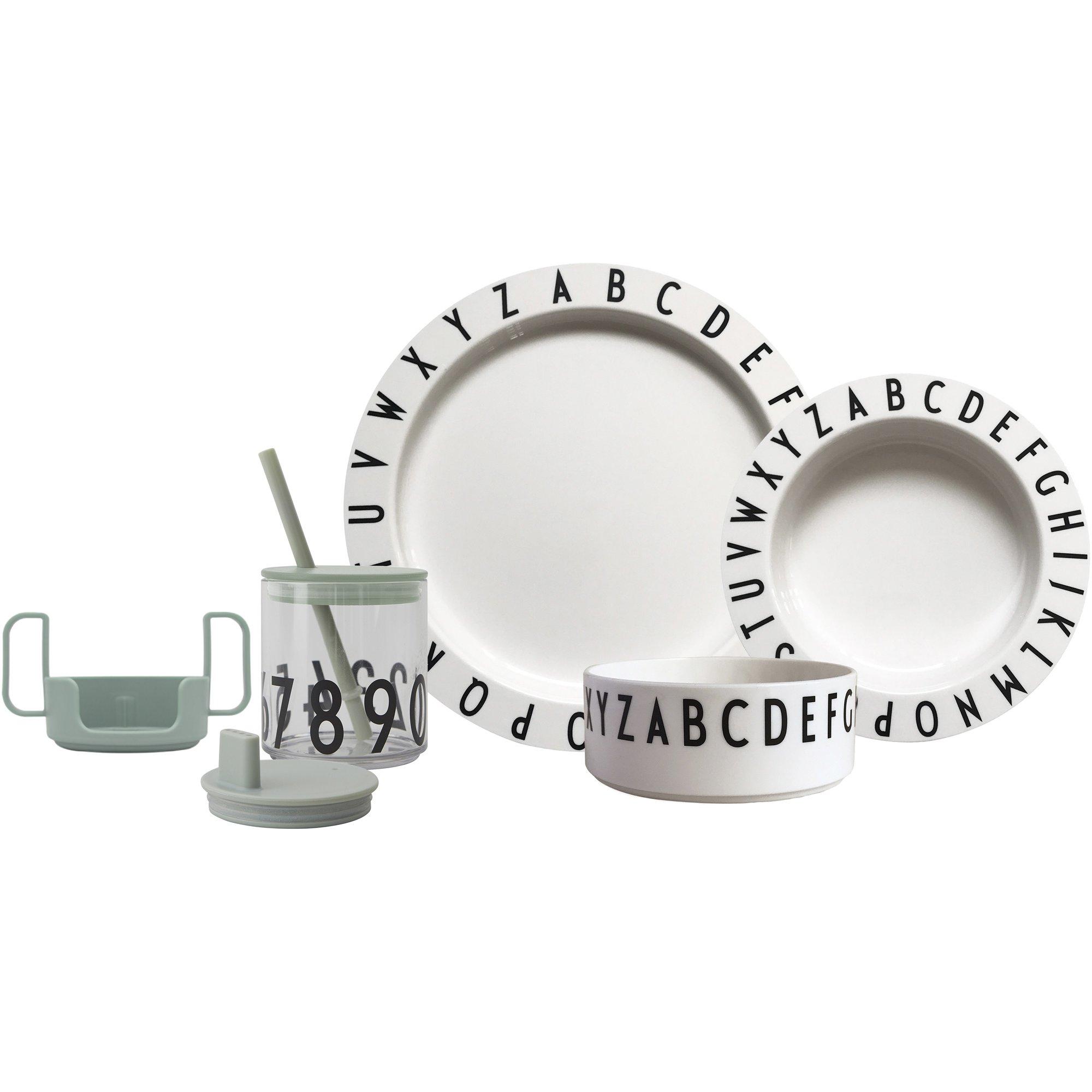 Design Letters Eat & Learn Tritan gift box grön och vit