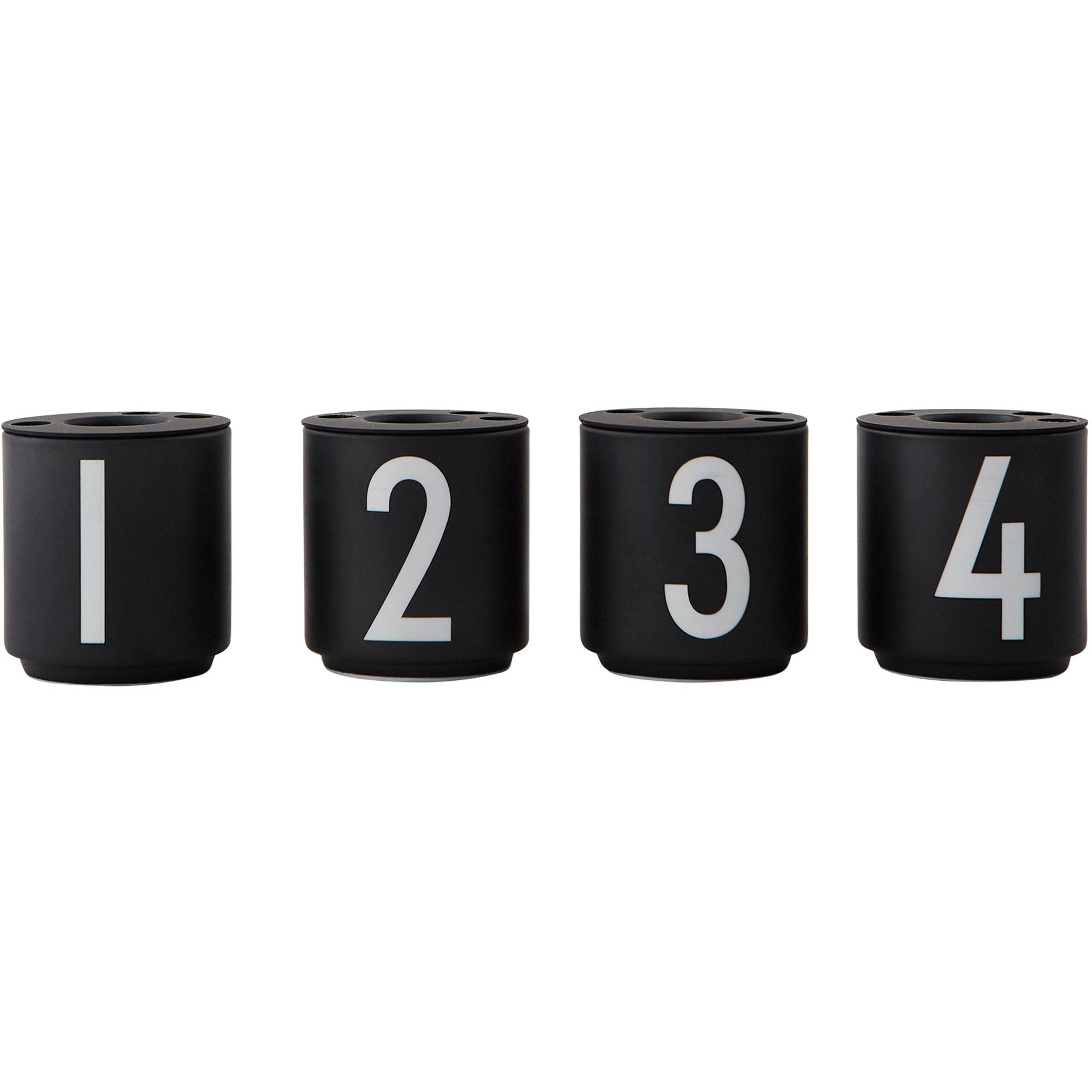 Design Letters Espressomugg Svart 4-st 1235