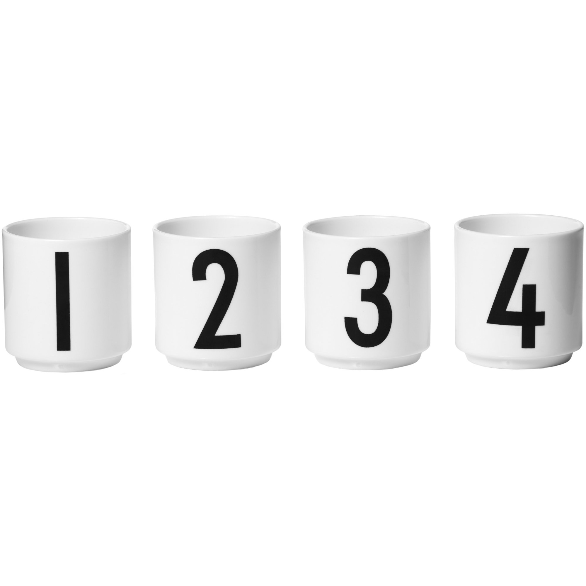 Design Letters Espressomugg Vit 4-st 1234