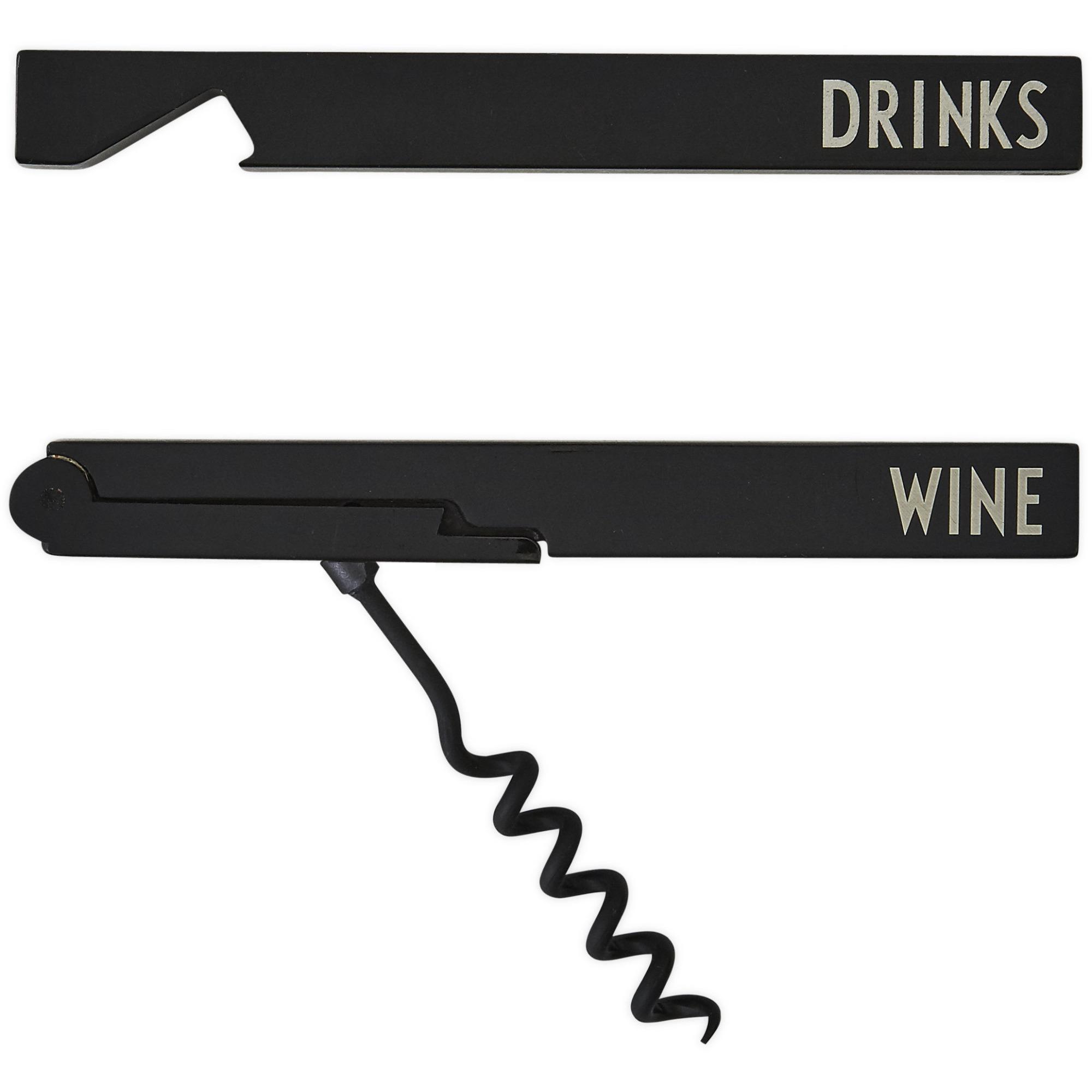 Design Letters Flask & Vinöppnare