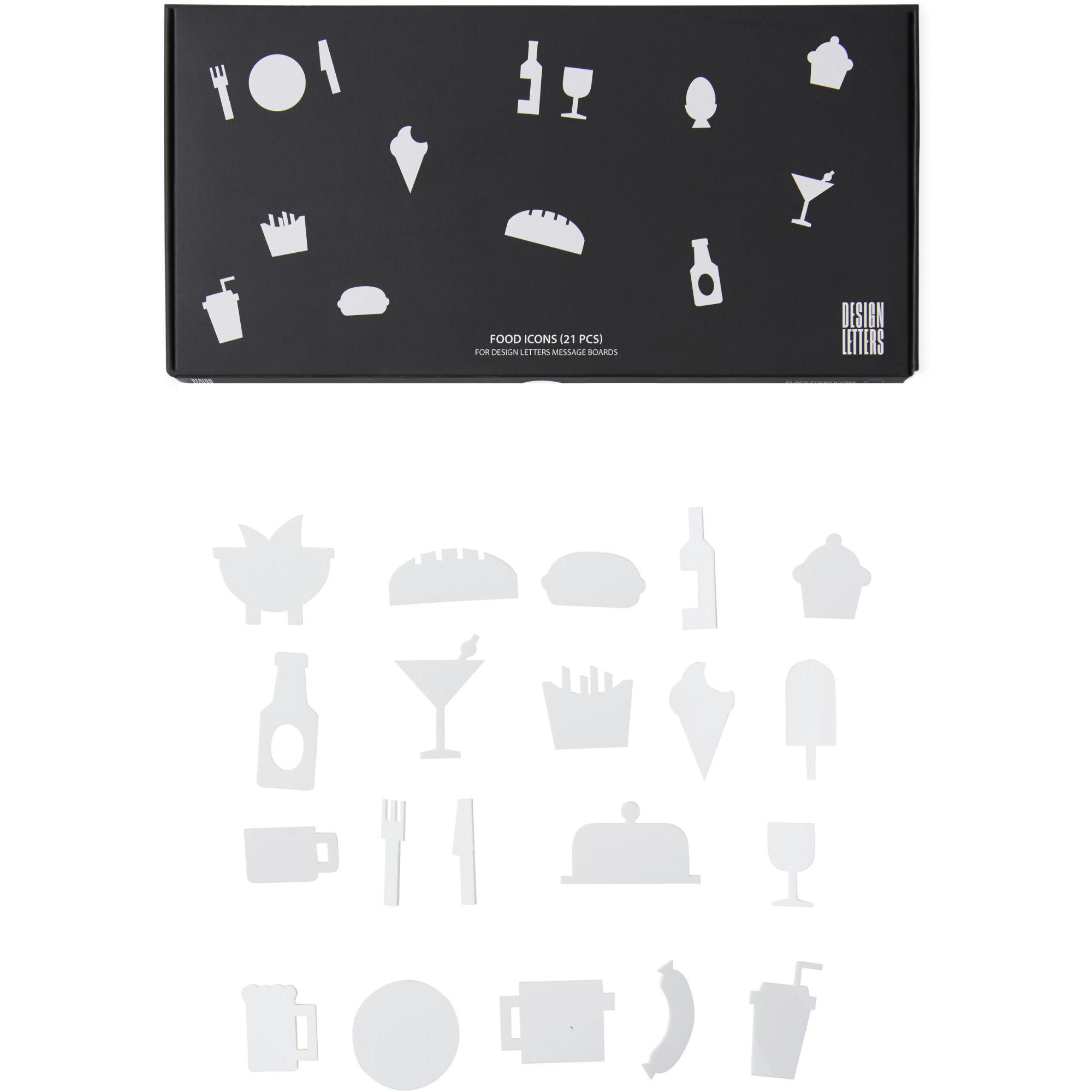 Design Letters Food Icons till Message Board (21 del) , Vit