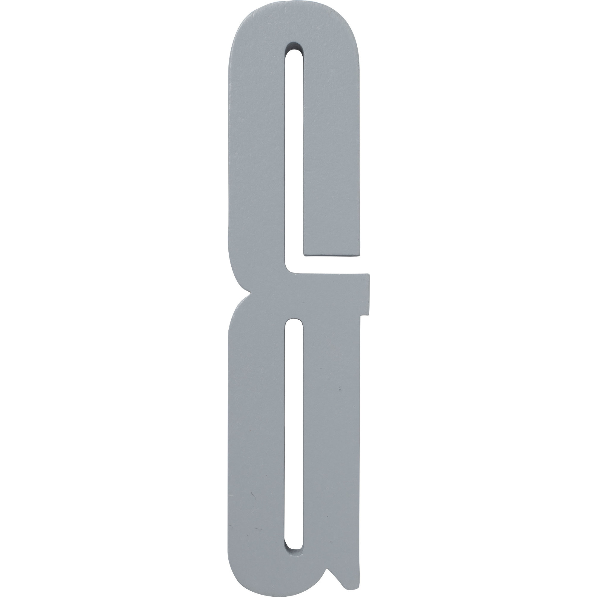 Design Letters Grå Bokstav i Trä, &