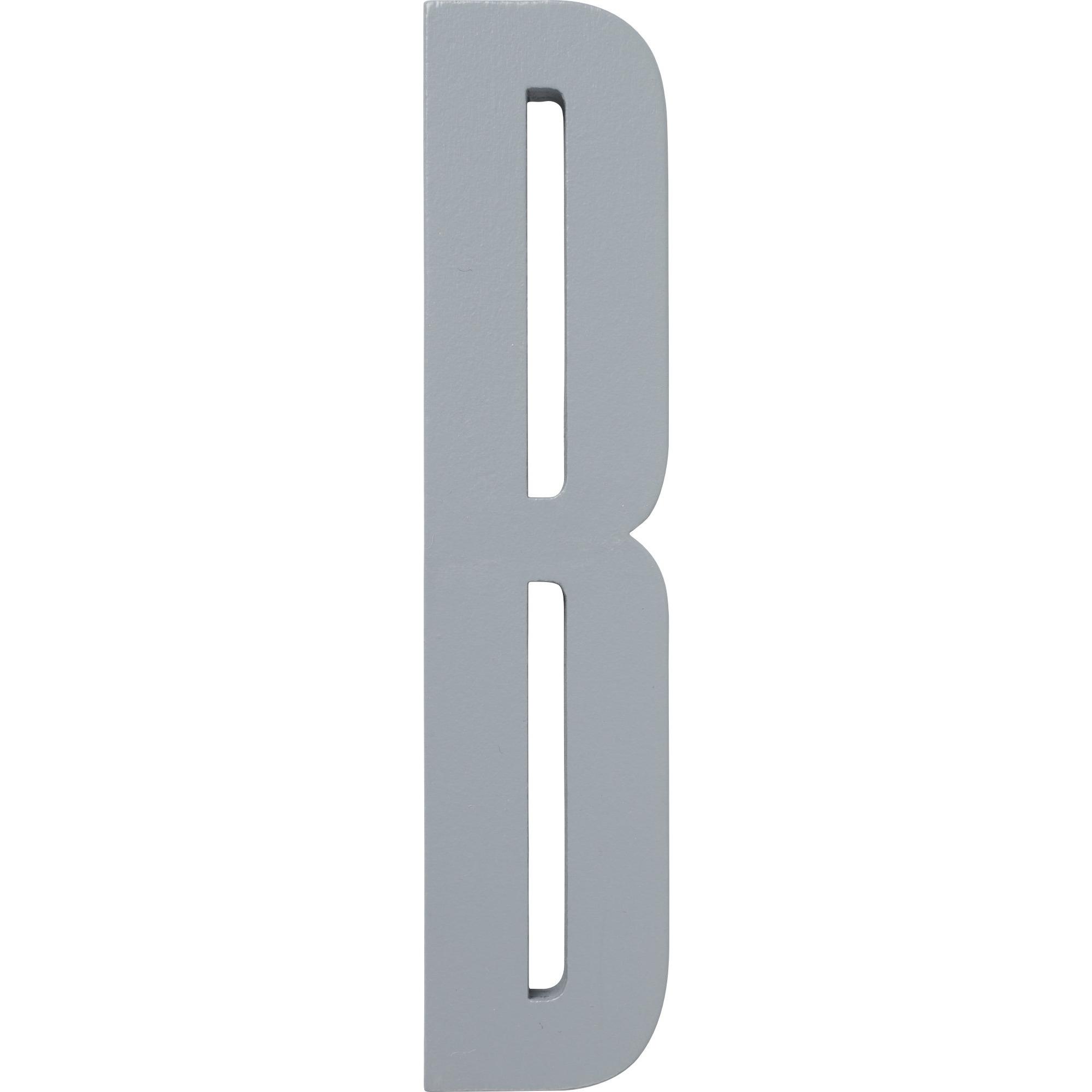 Design Letters Grå Bokstav i Trä B