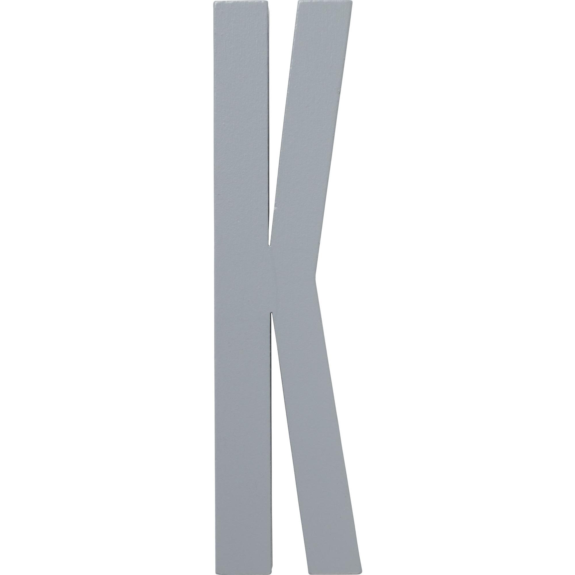 Design Letters Grå Bokstav i Trä K