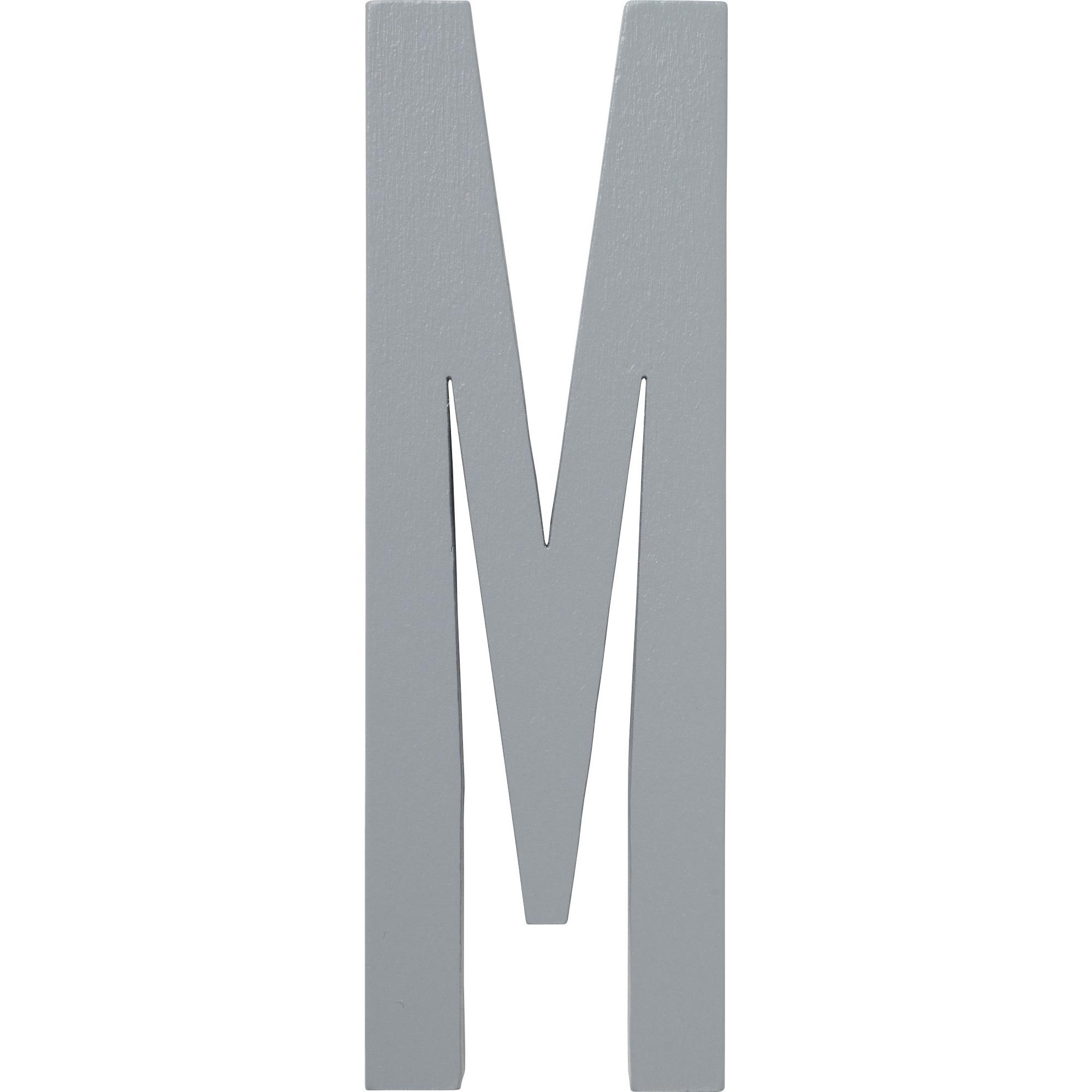 Design Letters Grå Bokstav i Trä M
