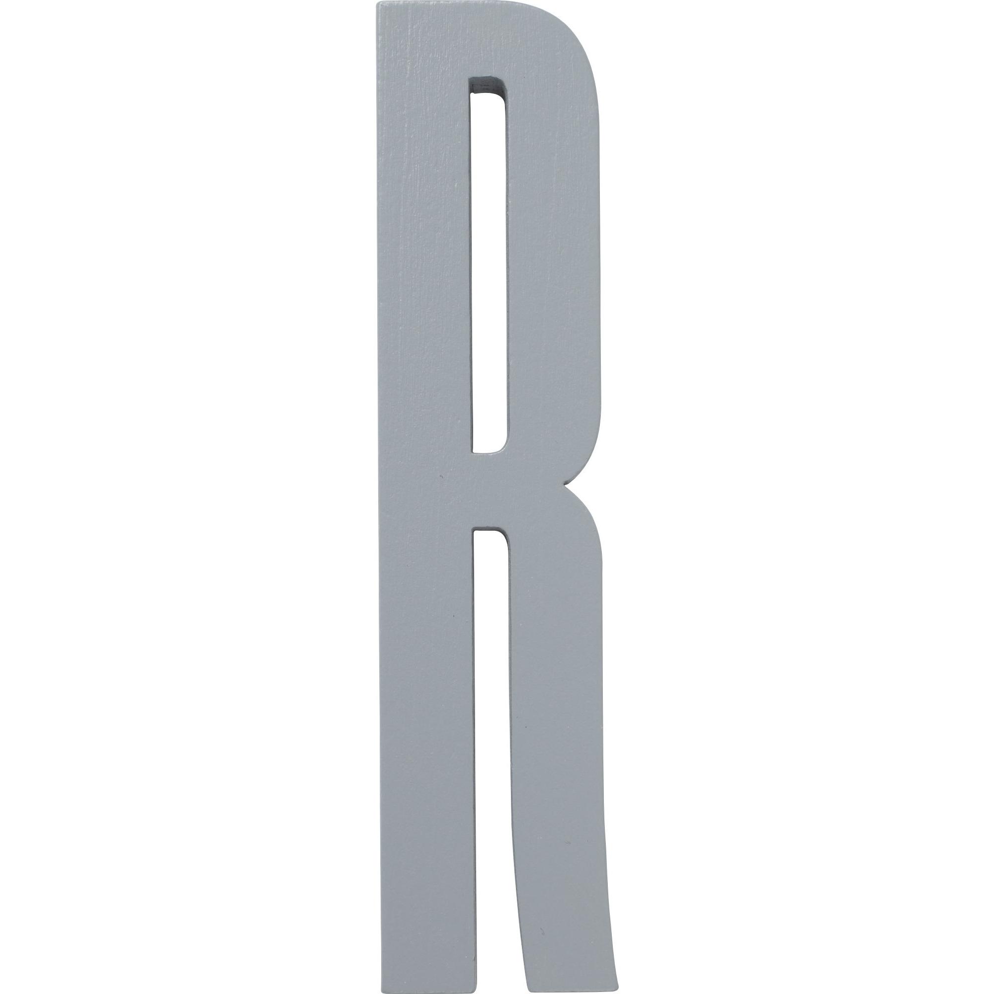Design Letters Grå Bokstav i Trä R