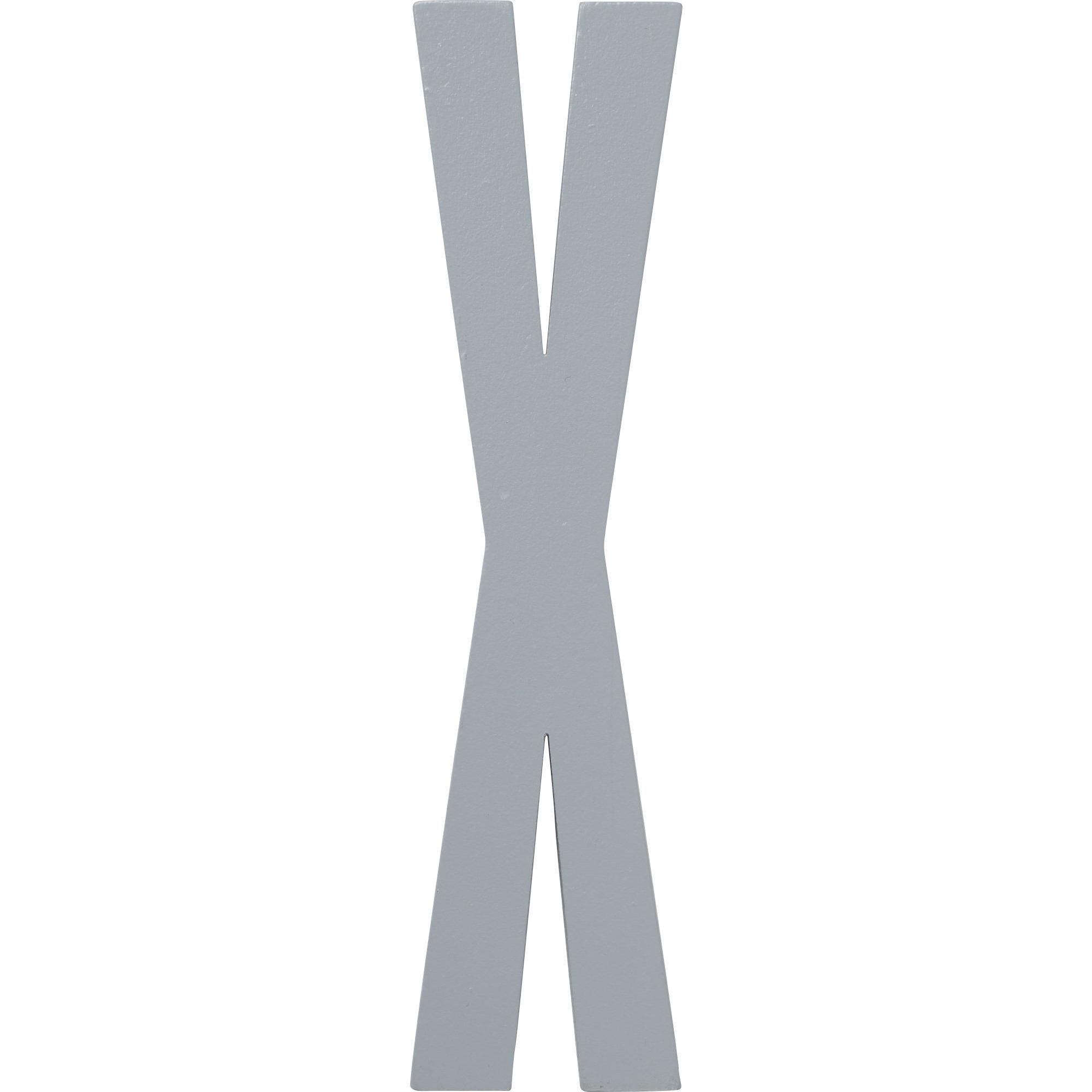 Design Letters Grå Bokstav i Trä X