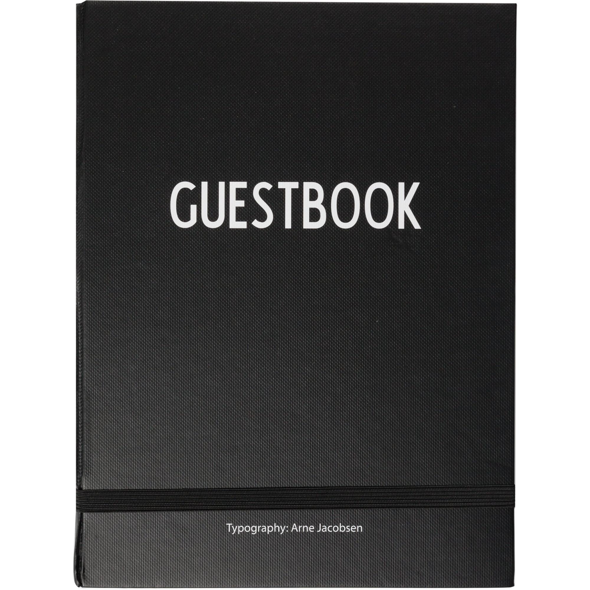 Design Letters Guestbook Svart