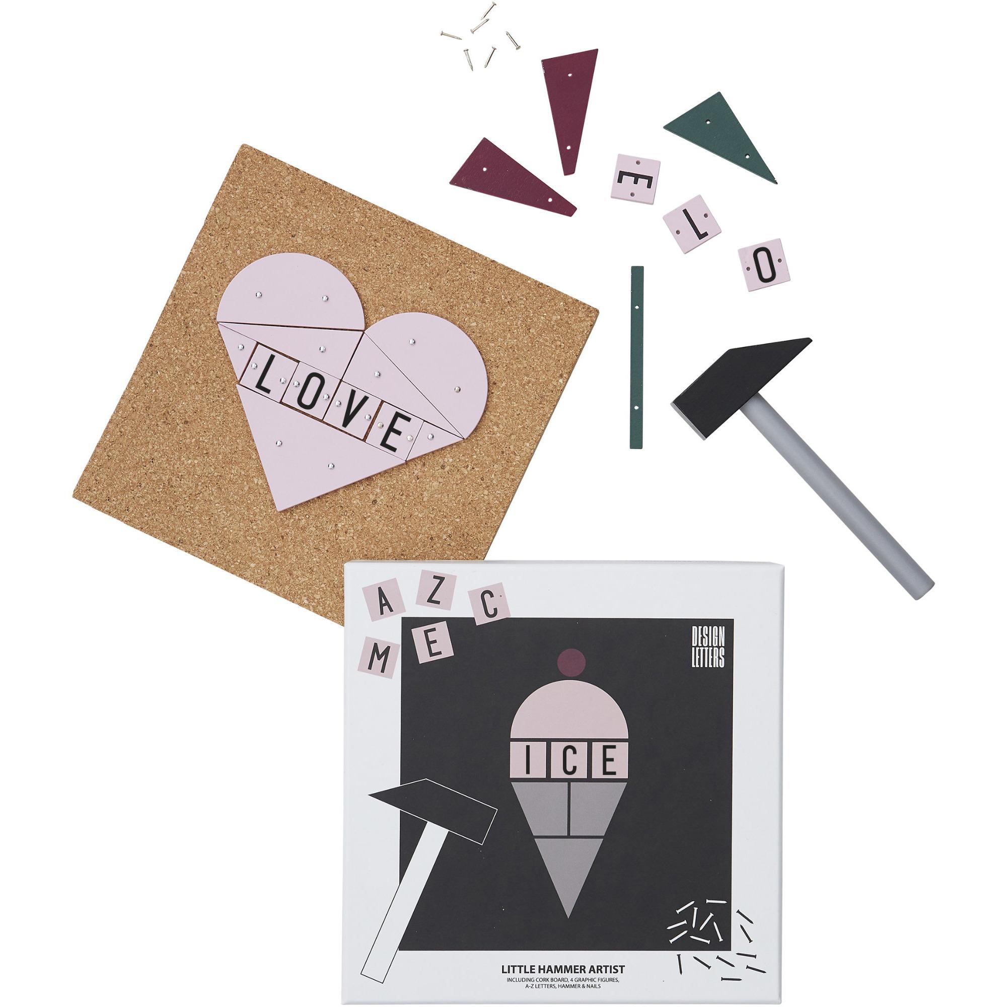 Design Letters Hammer Artist Barnservis 3-del Rosa