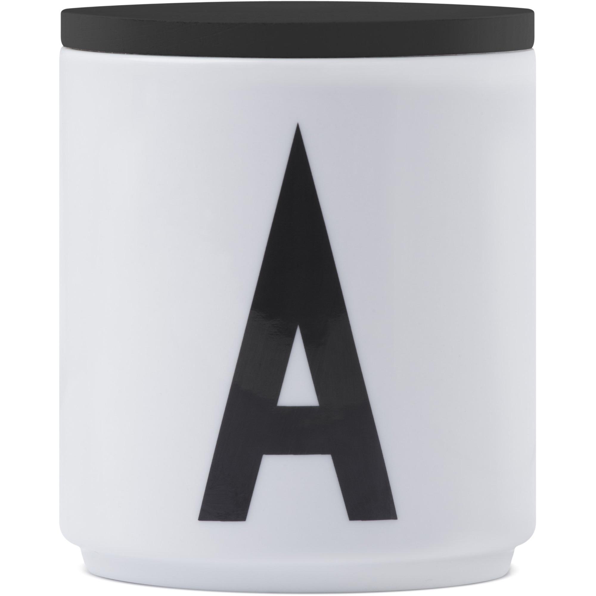 Design Letters Lock till Porslinsmugg Svart