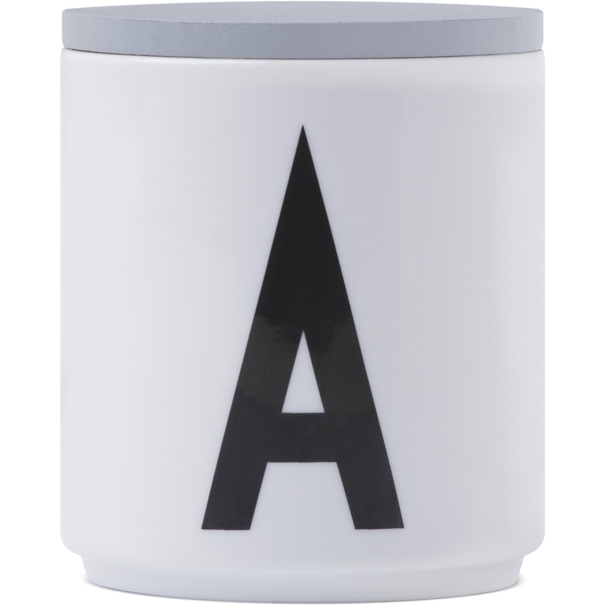 Design Letters Lock till Porslinsmugg Grå