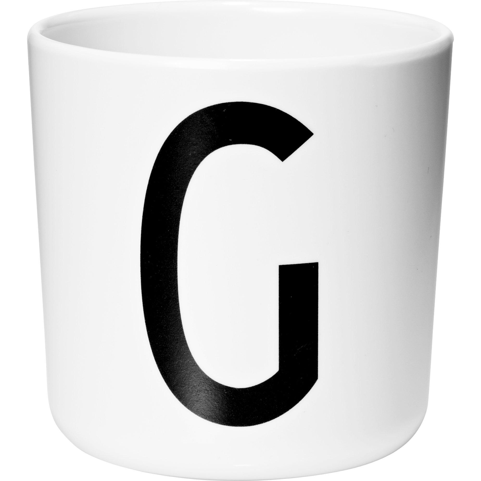 Design Letters Melaminmugg Vit G
