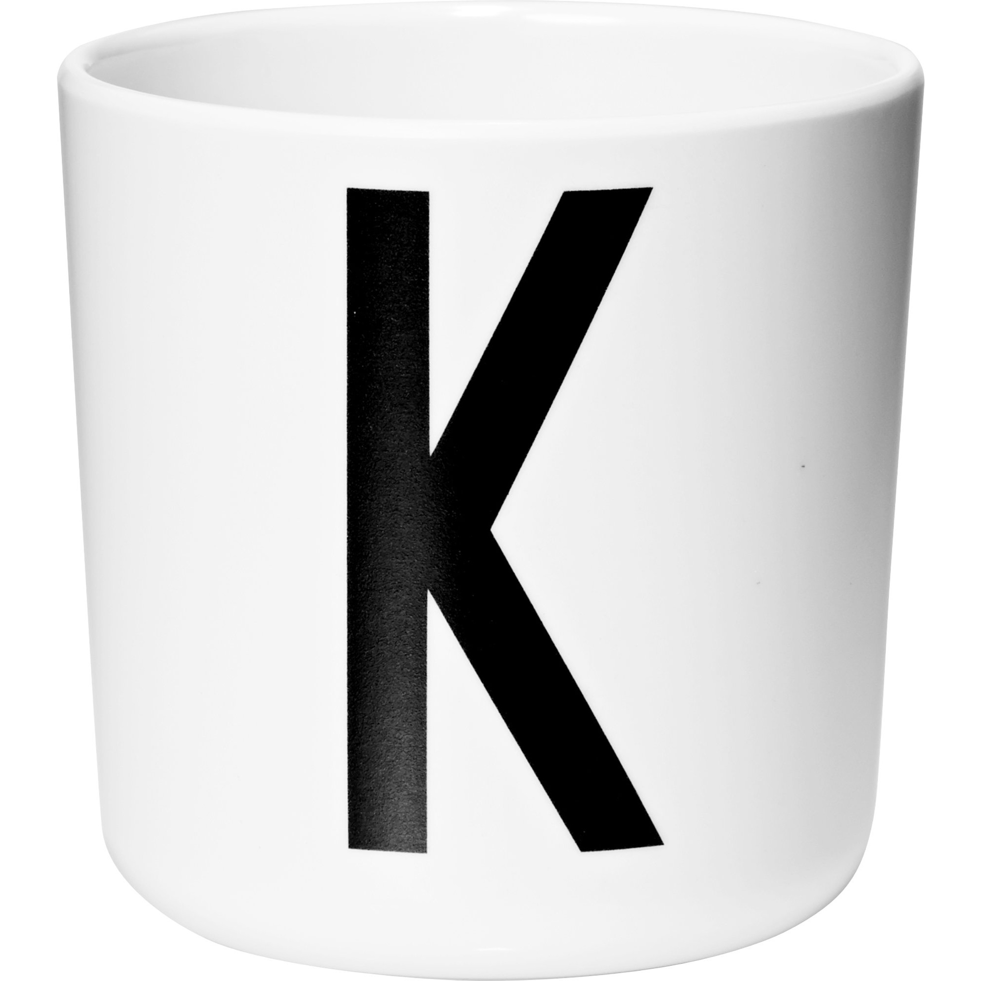 Design Letters Melaminmugg Vit K