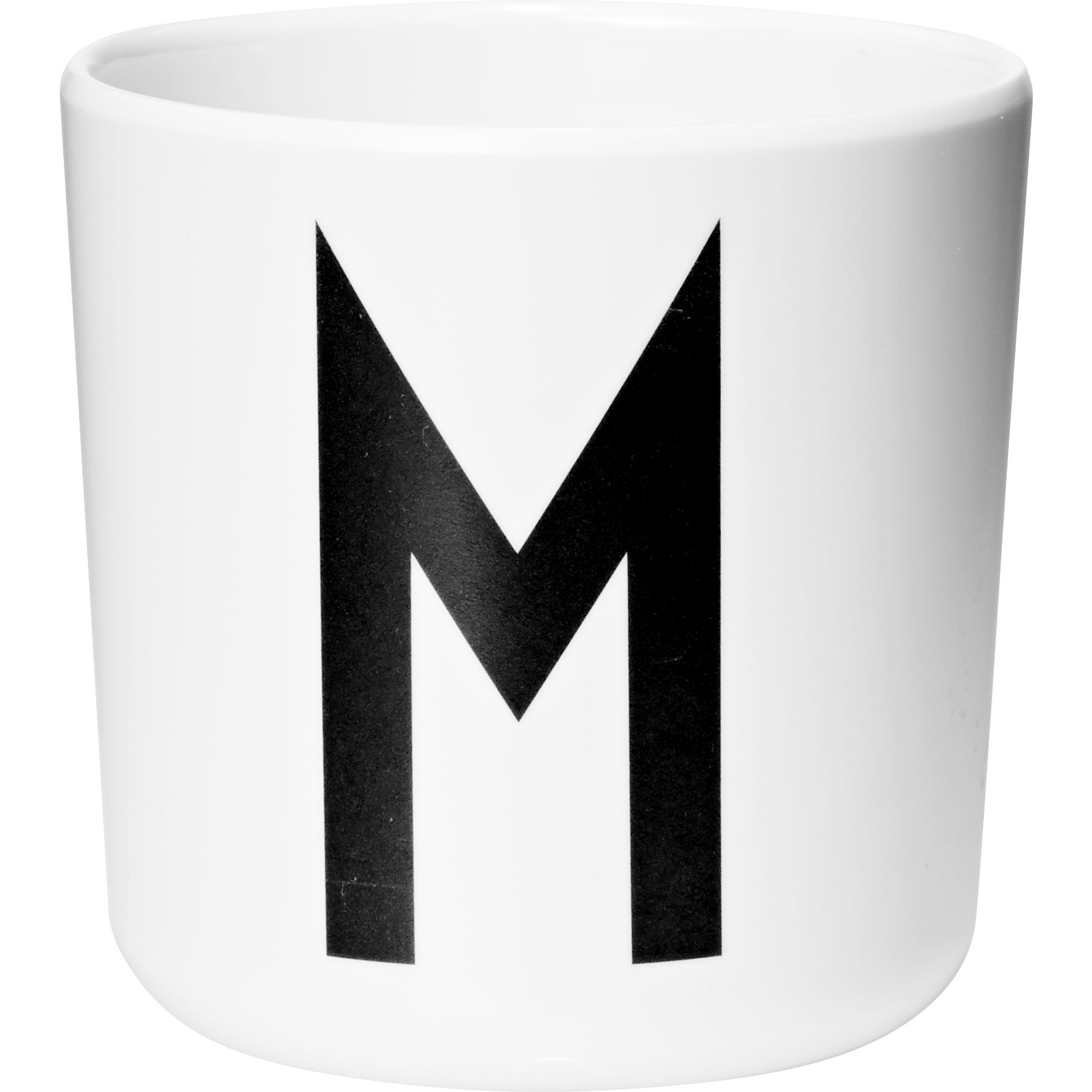 Design Letters Melaminmugg Vit M