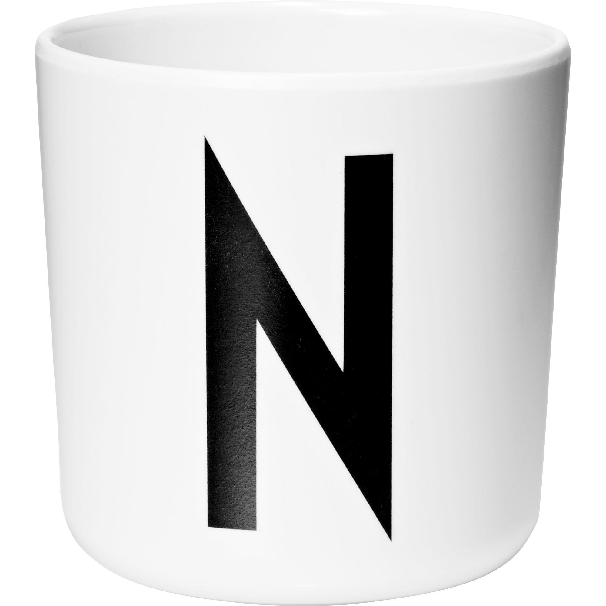 Design Letters Melaminmugg Vit N