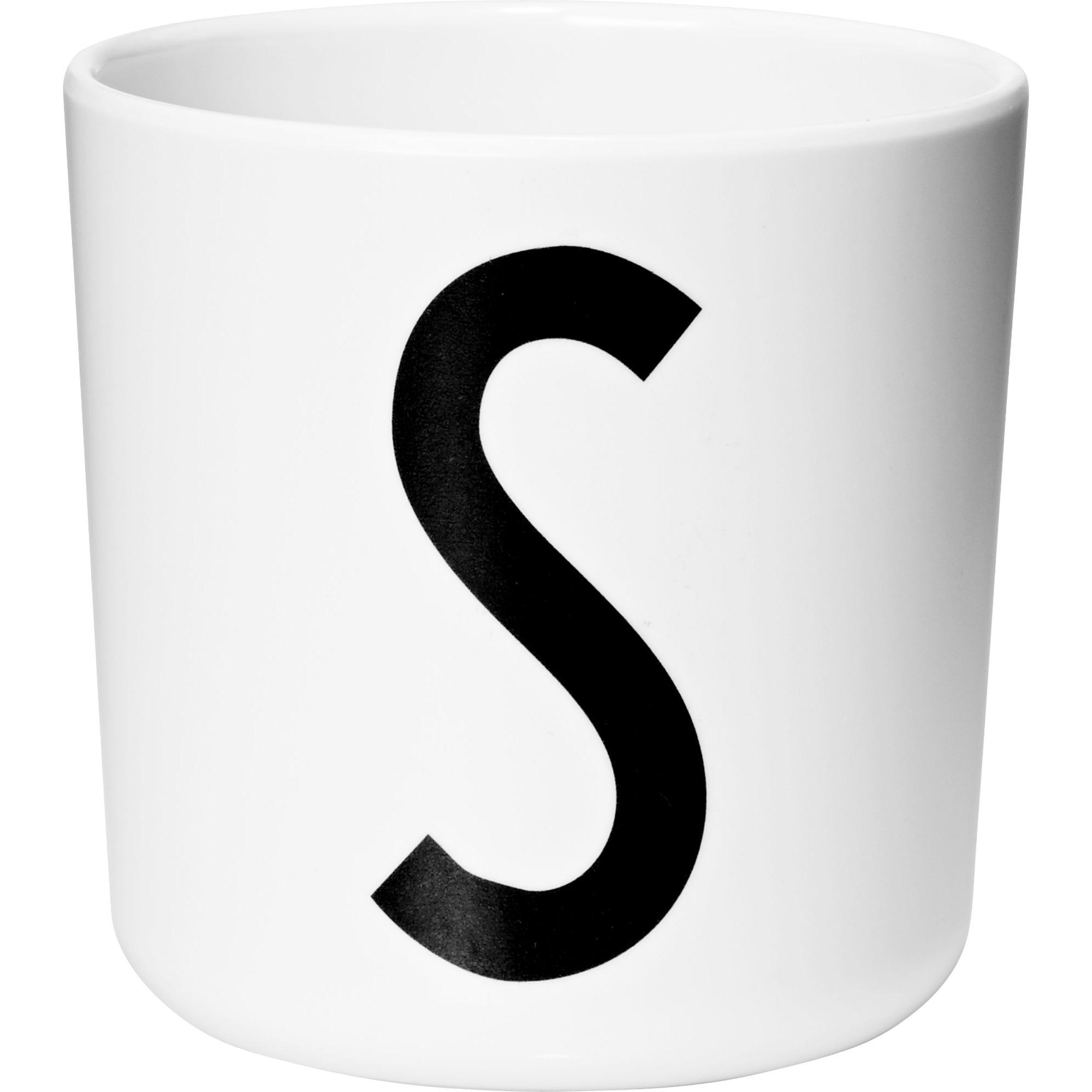Design Letters Melaminmugg Vit S