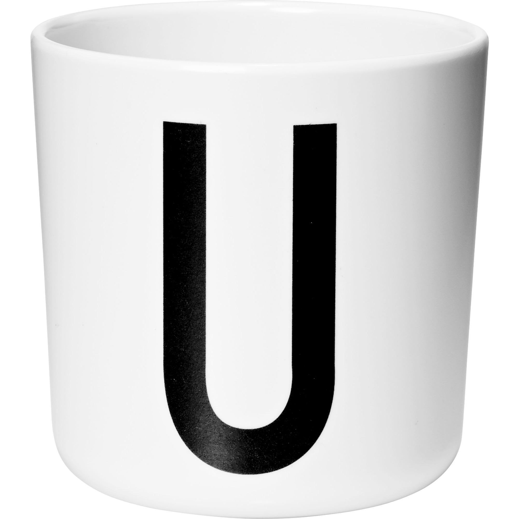 Design Letters Melaminmugg Vit U