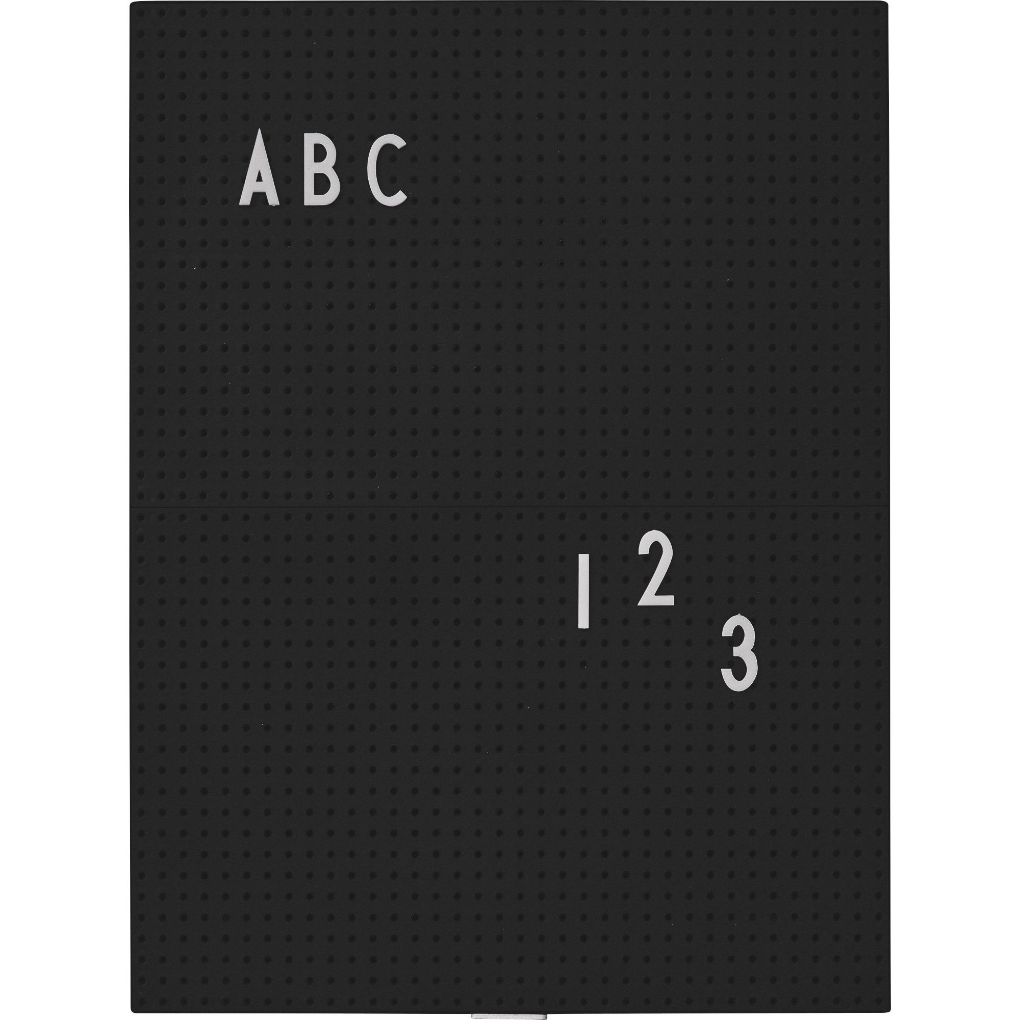 Design Letters Message Board A4 Svart