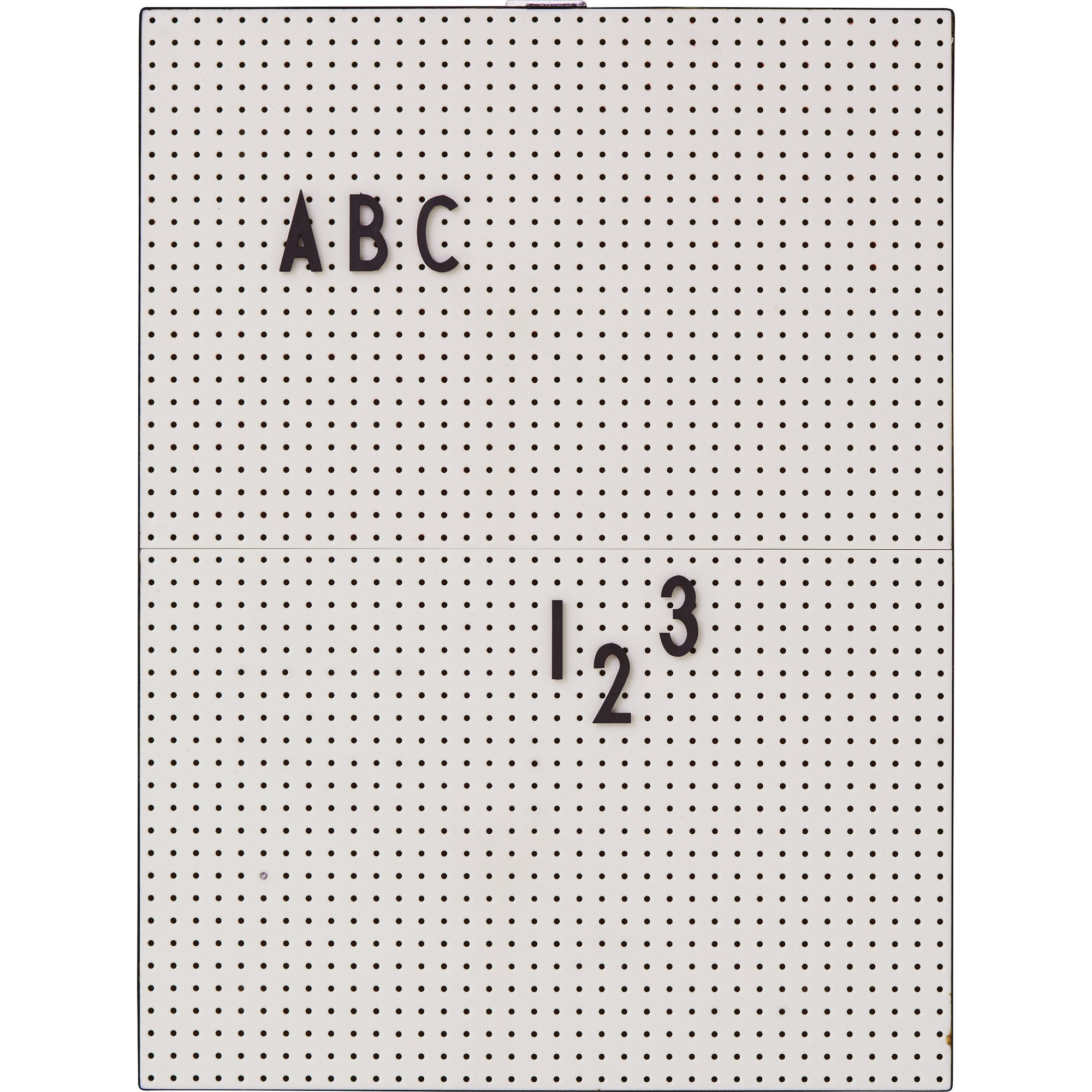 Design Letters Message Board A4 Grå