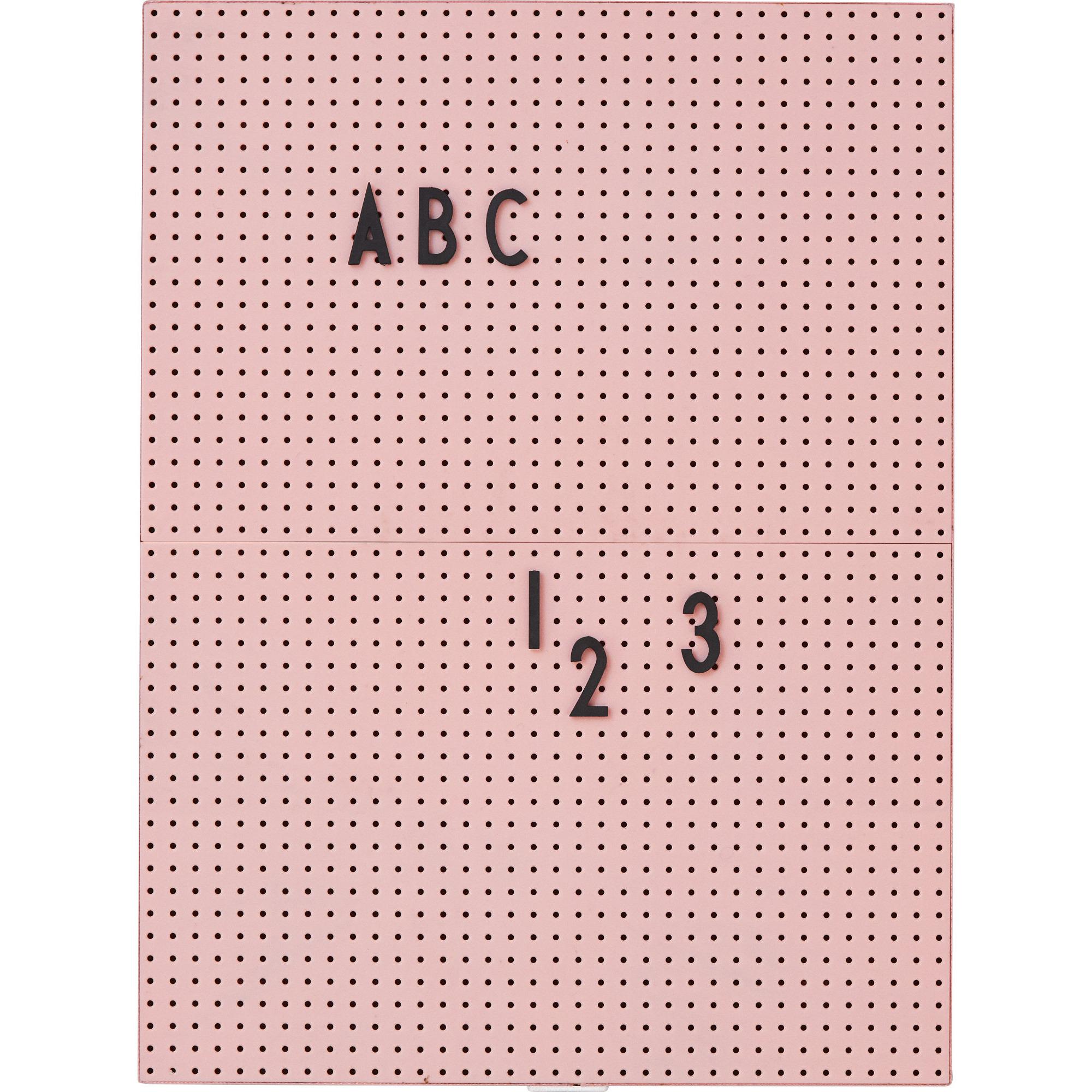 Design Letters Message Board A4 Rosa