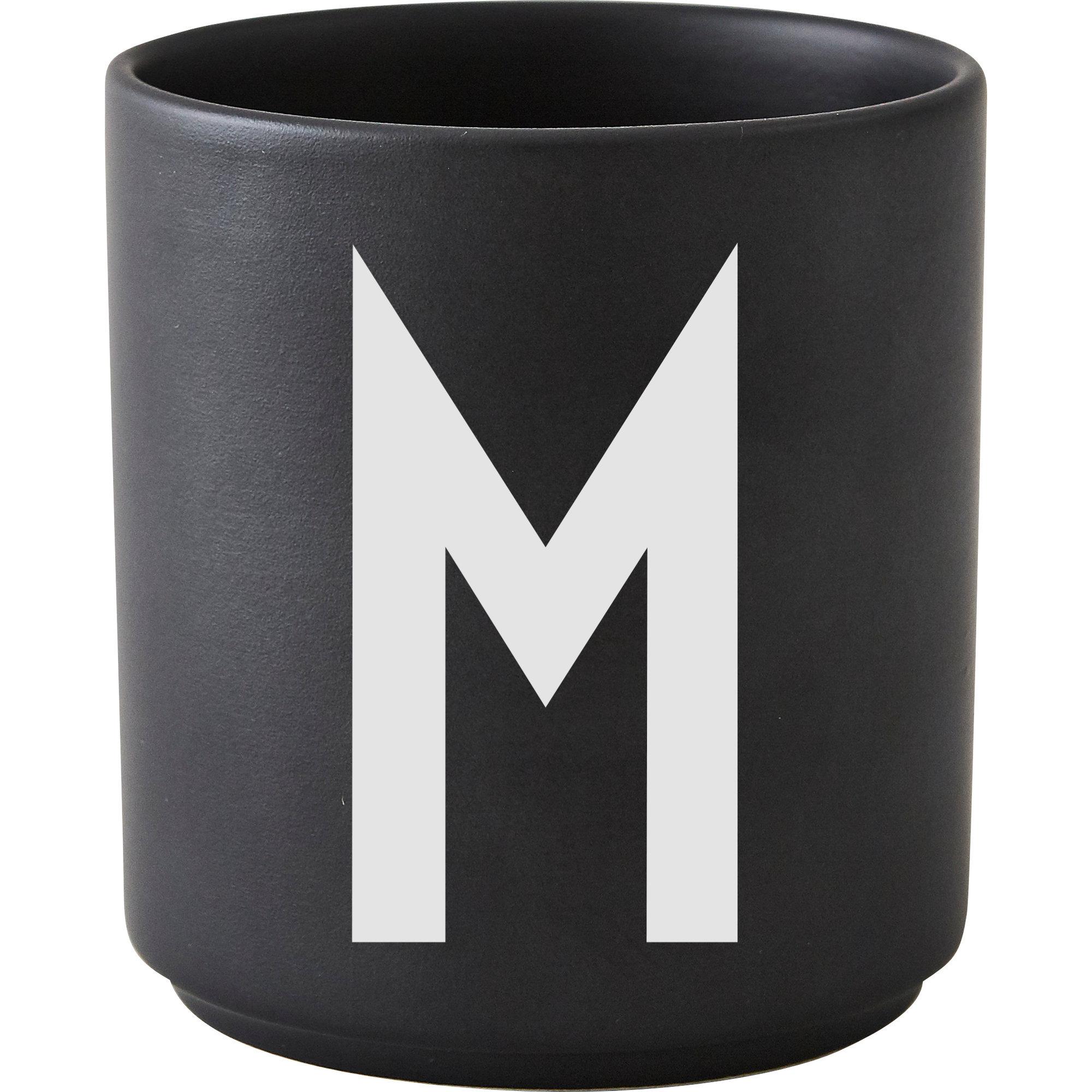 Design Letters Porslinsmugg Svart M