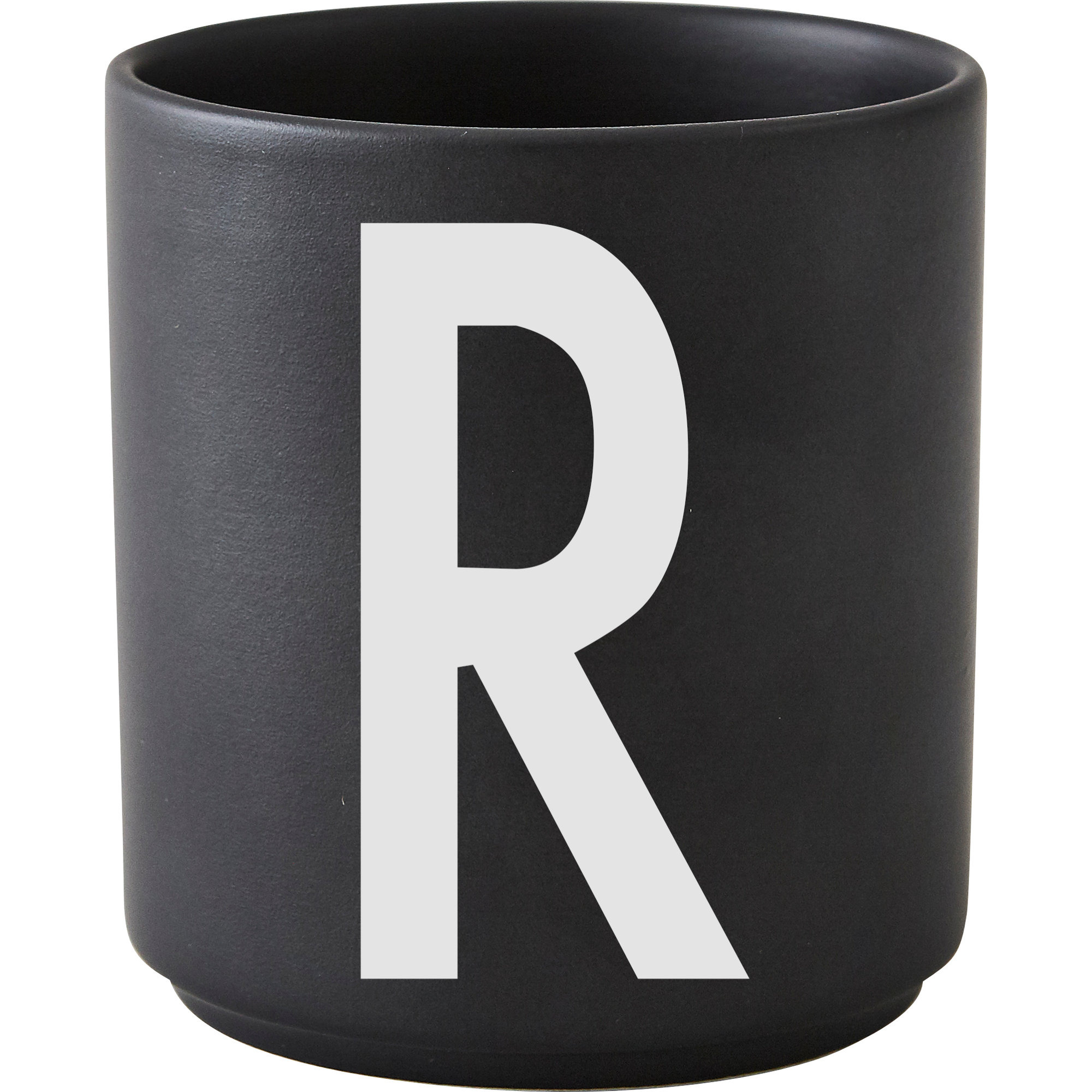 Design Letters Porslinsmugg Svart R