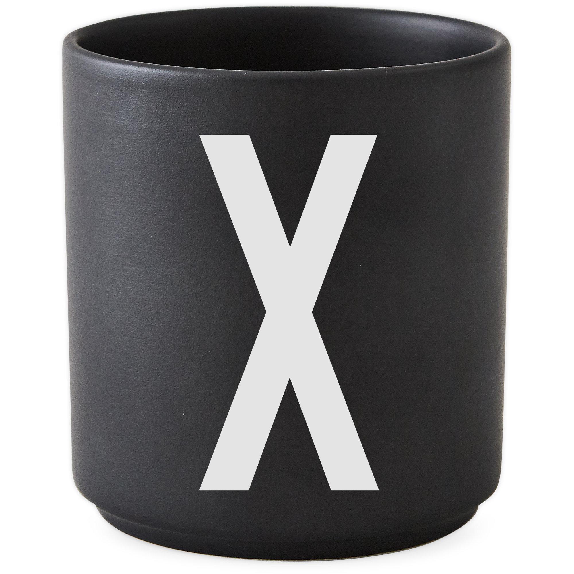 Design Letters Porslinsmugg Svart X