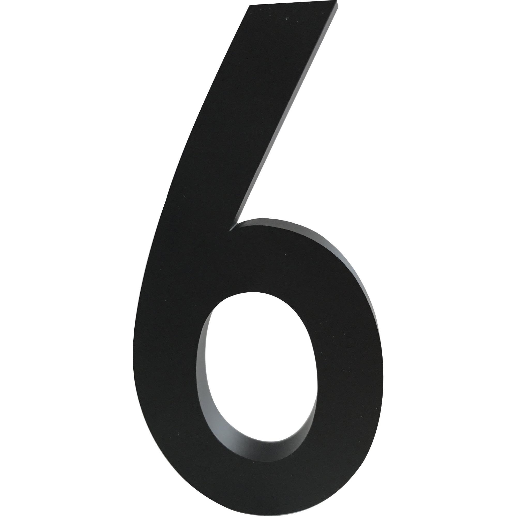 Design Letters Siffra Grå i Aluminium 100 mm 6