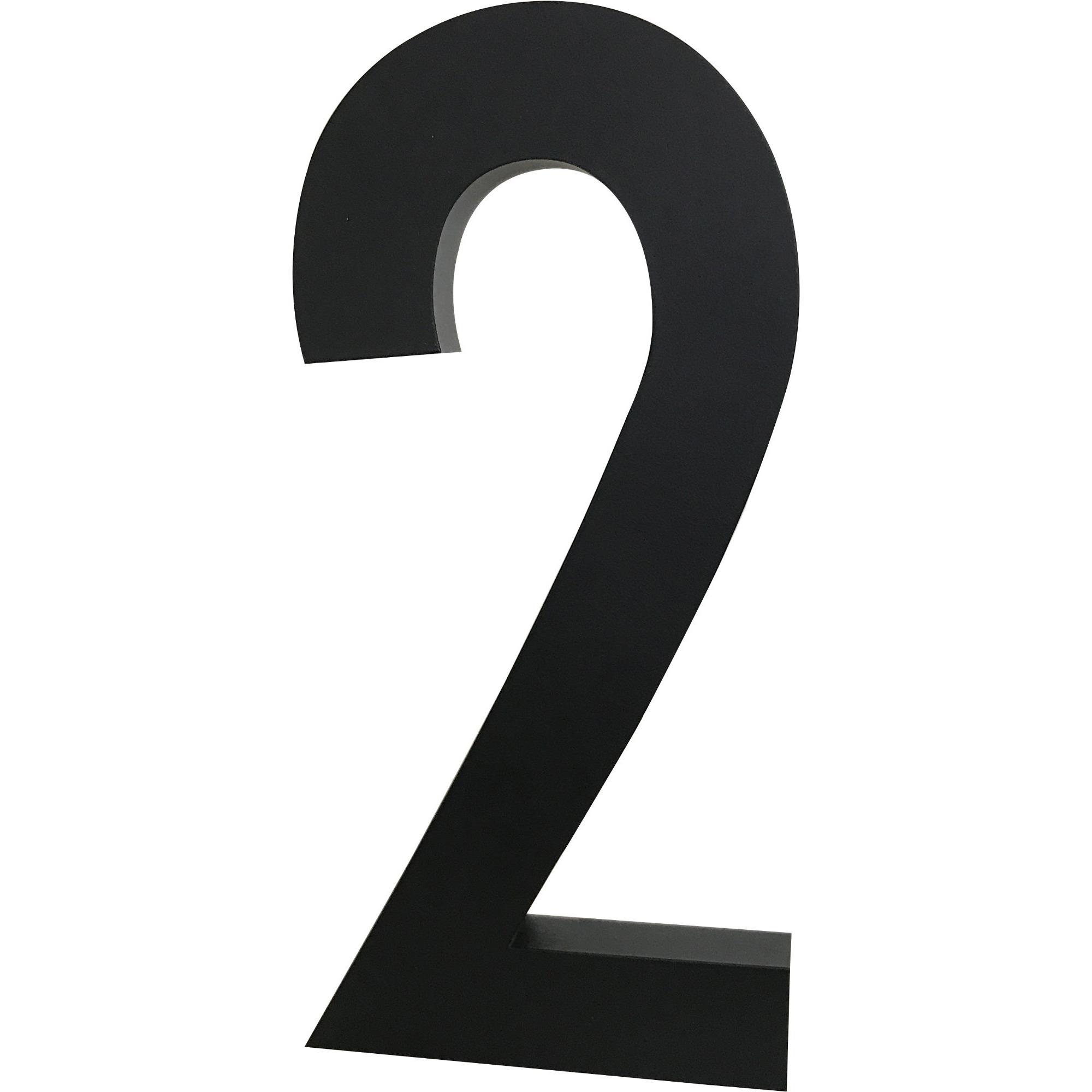 Design Letters Siffra Grå i Aluminium 50 mm 2