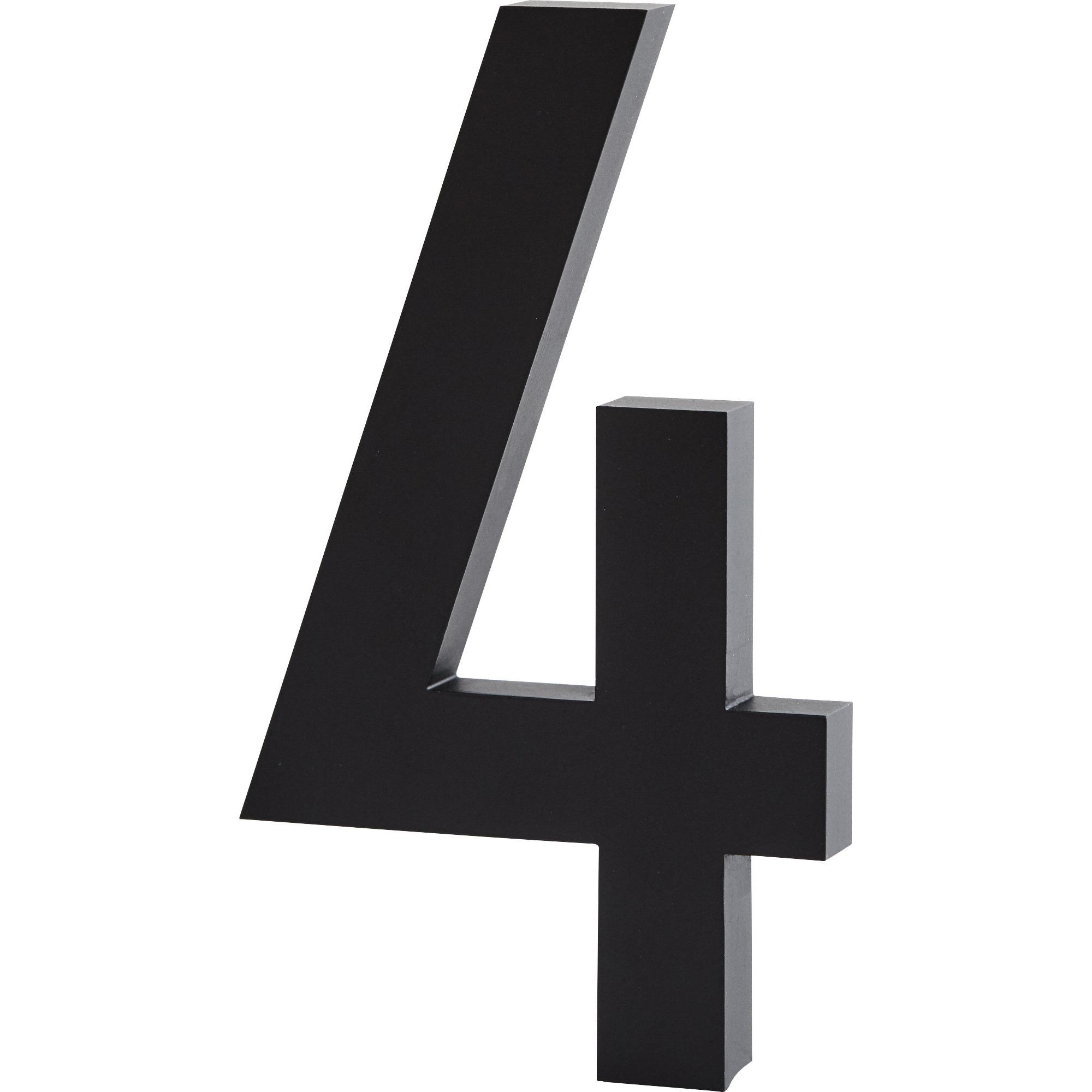 Design Letters Siffra Grå i Aluminium 50 mm 4