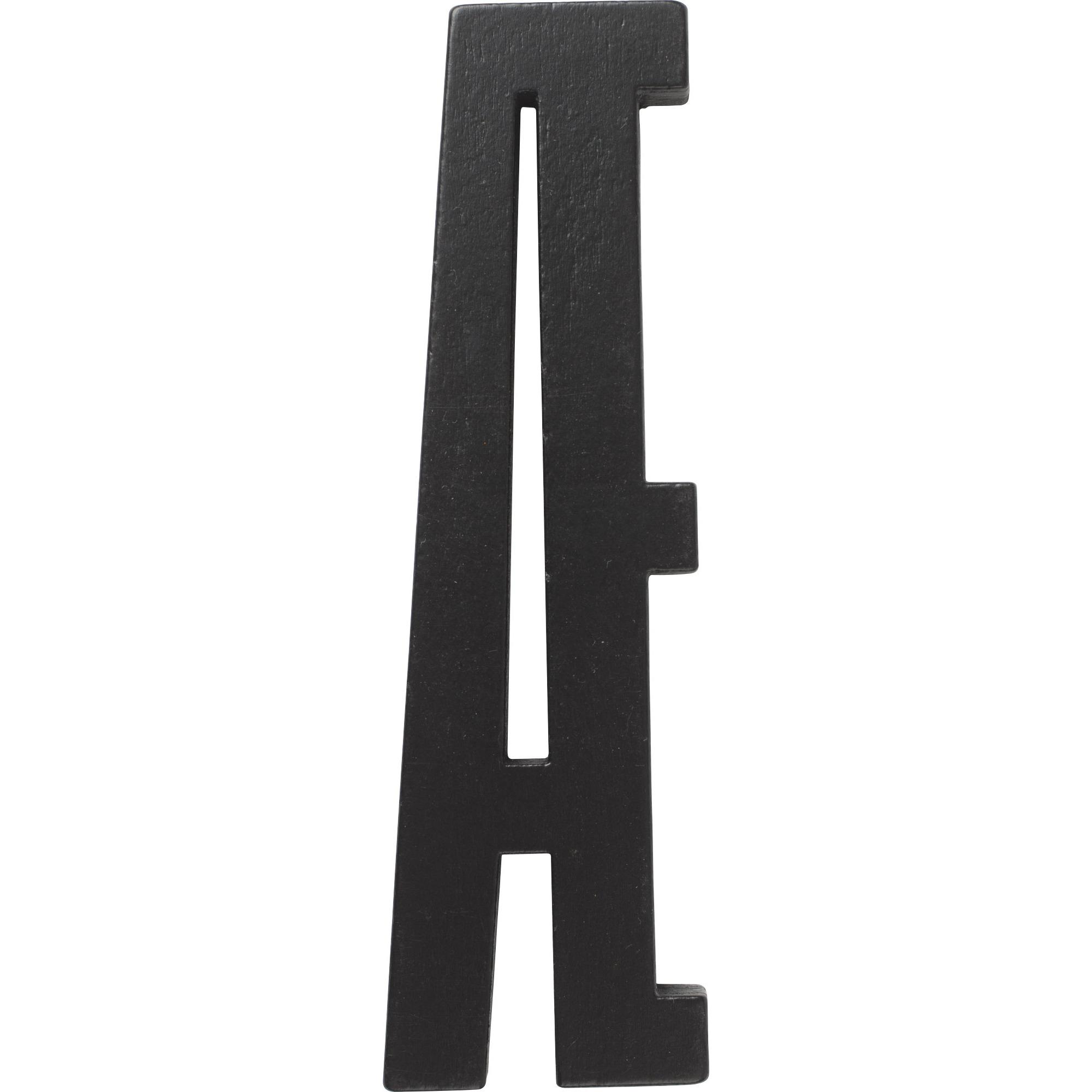 Design Letters Svart Bokstav i Trä Æ