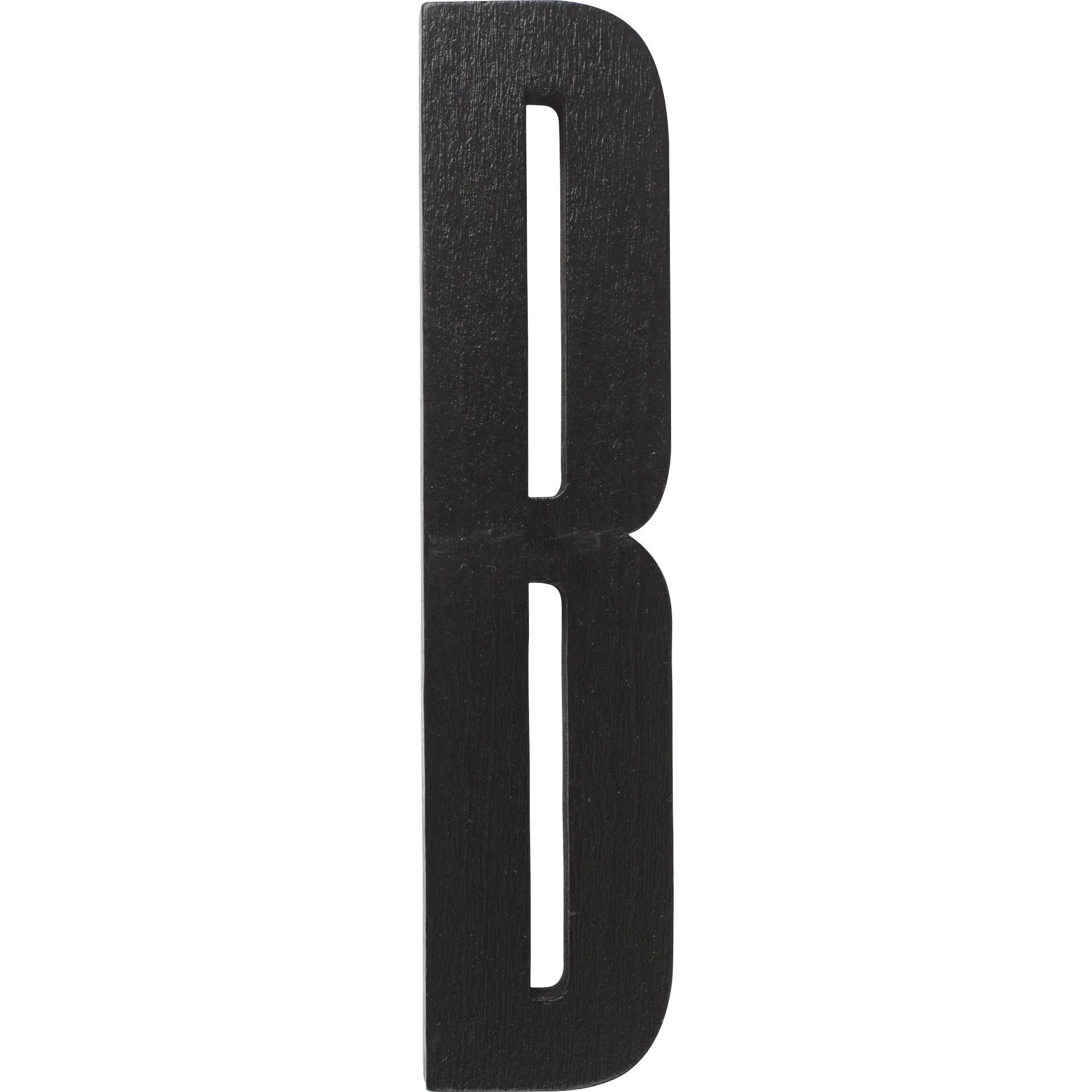 Design Letters Svart Bokstav i Trä B