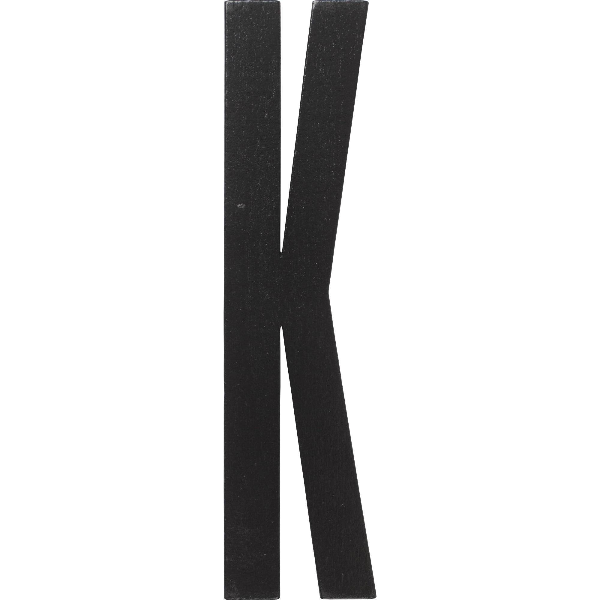 Design Letters Svart Bokstav i Trä K