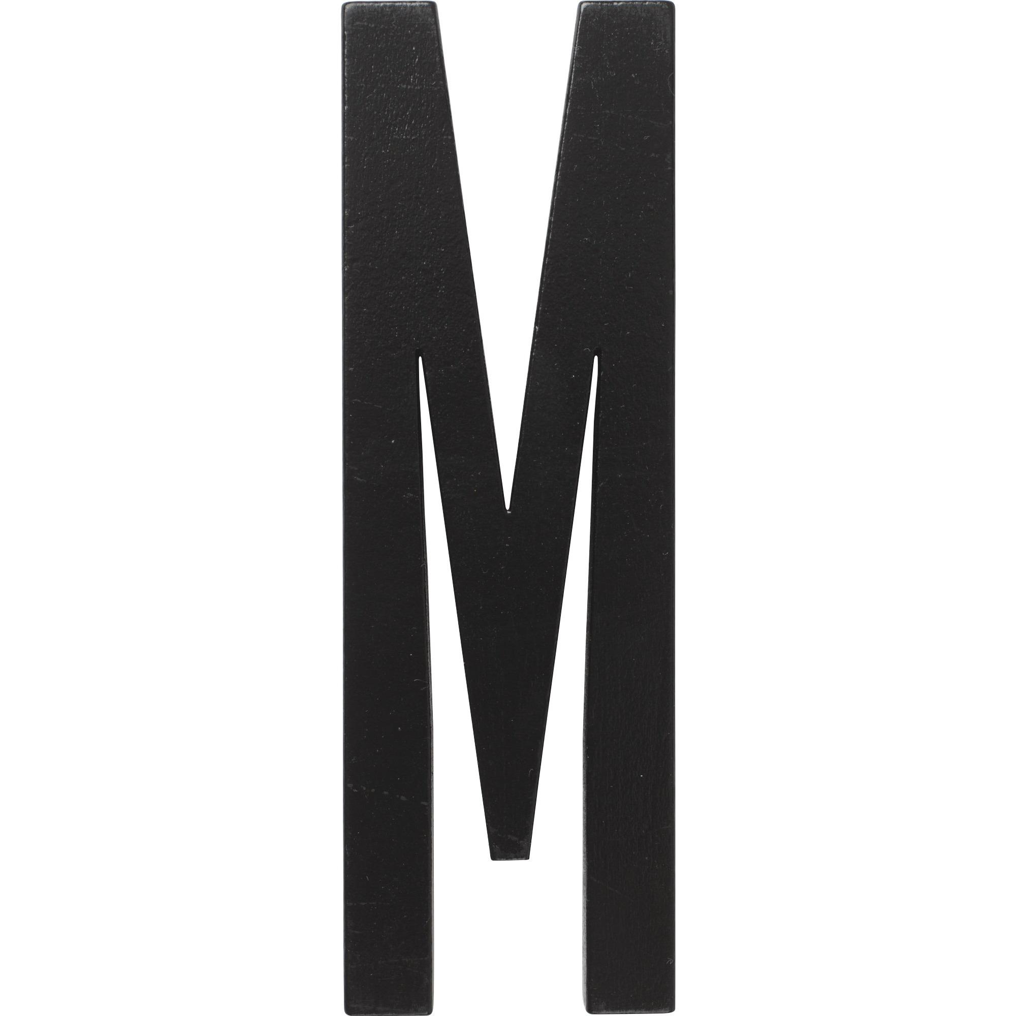 Design Letters Svart Bokstav i Trä M