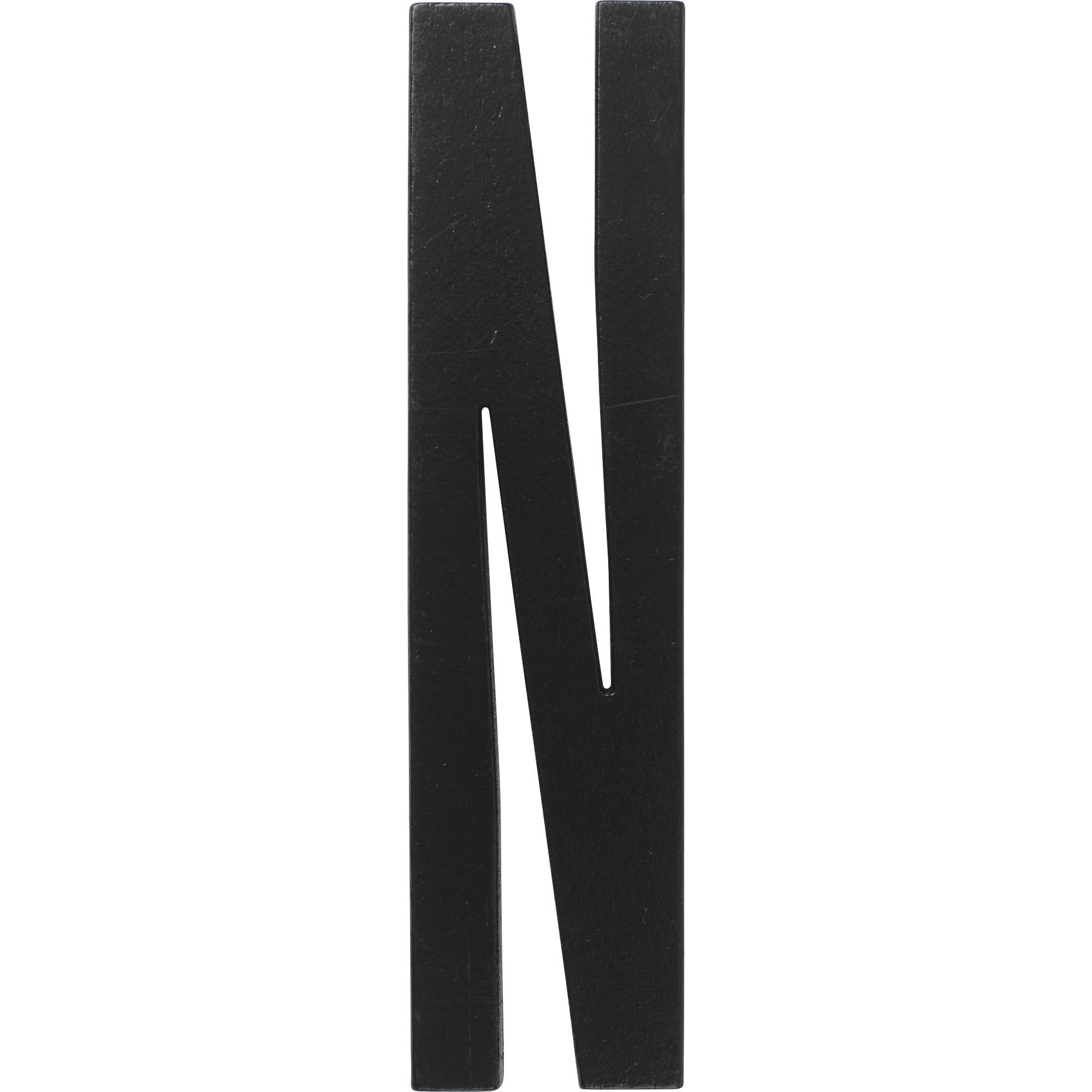 Design Letters Svart Bokstav i Trä N