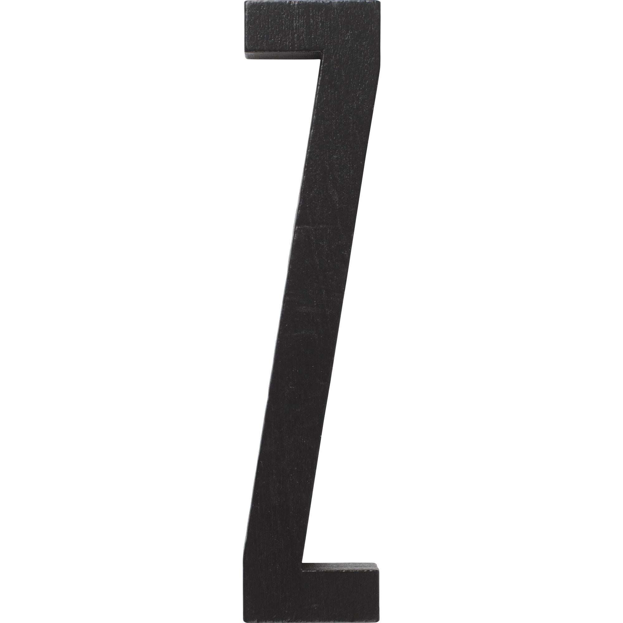 Design Letters Svart Bokstav i Trä Z