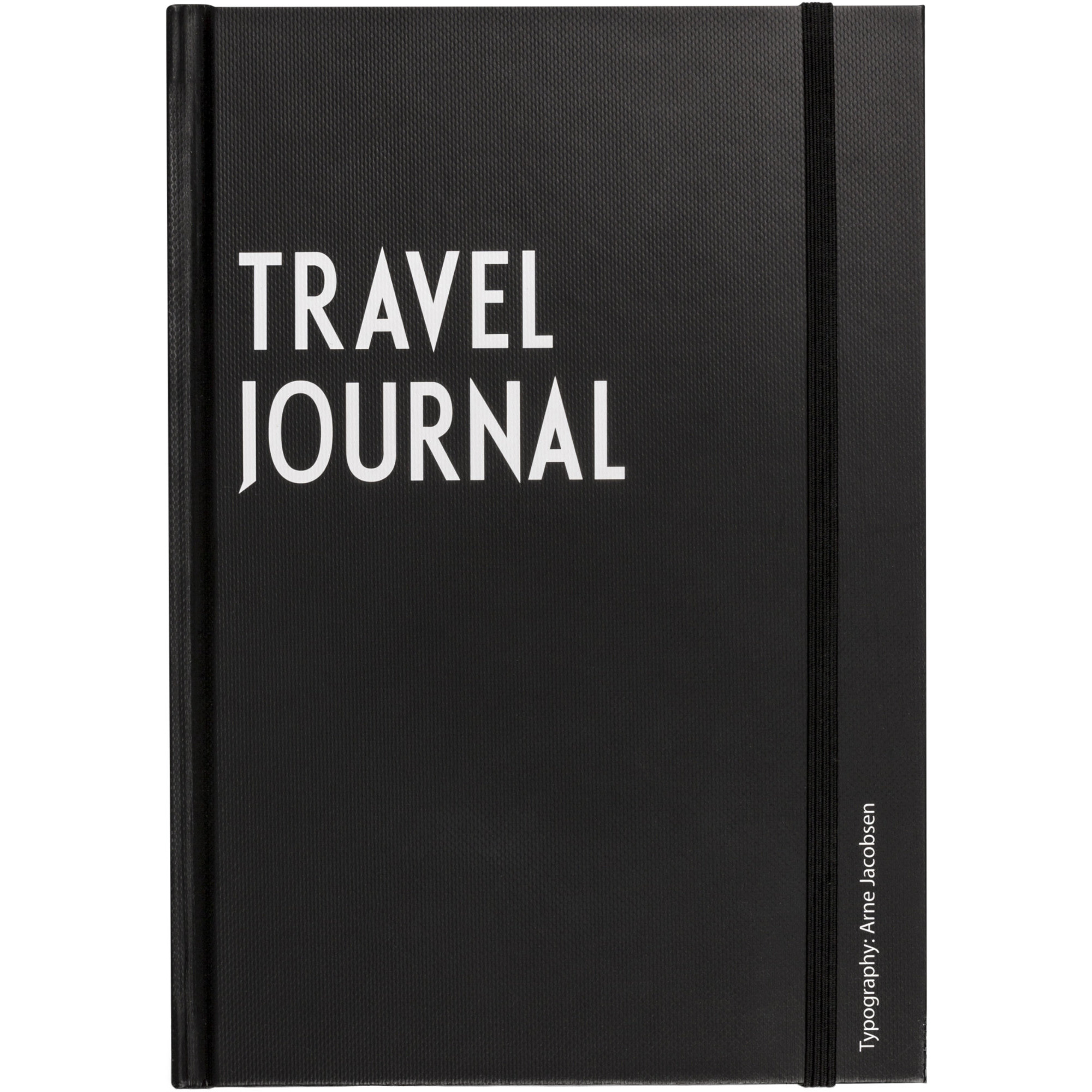 Design Letters Travel Journal Svart