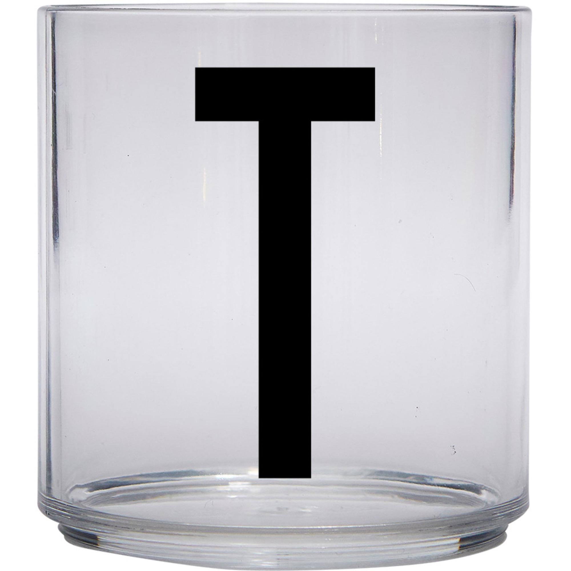 Design Letters Tritan Plastglas barn T