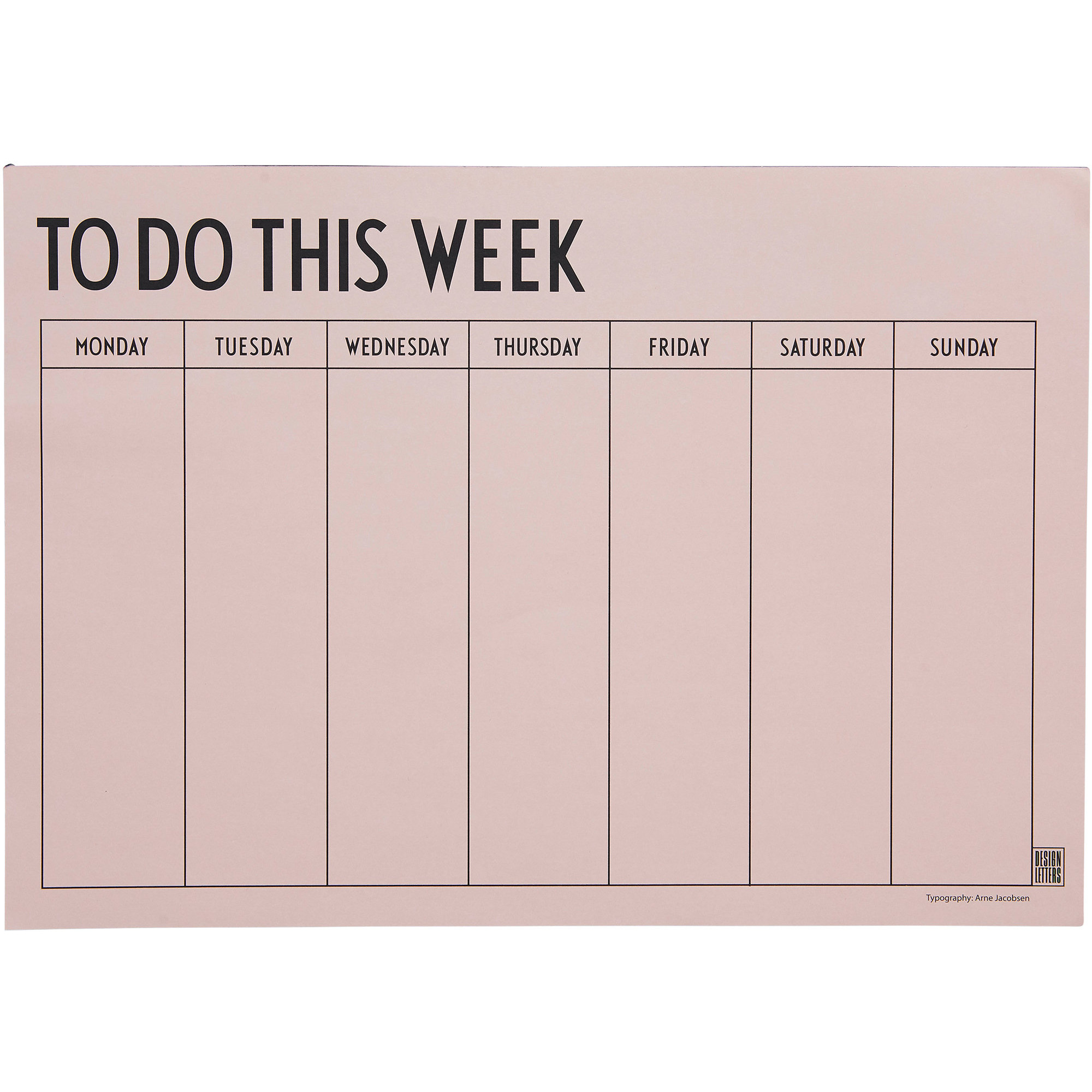Design Letters Weekly Planner Rosa