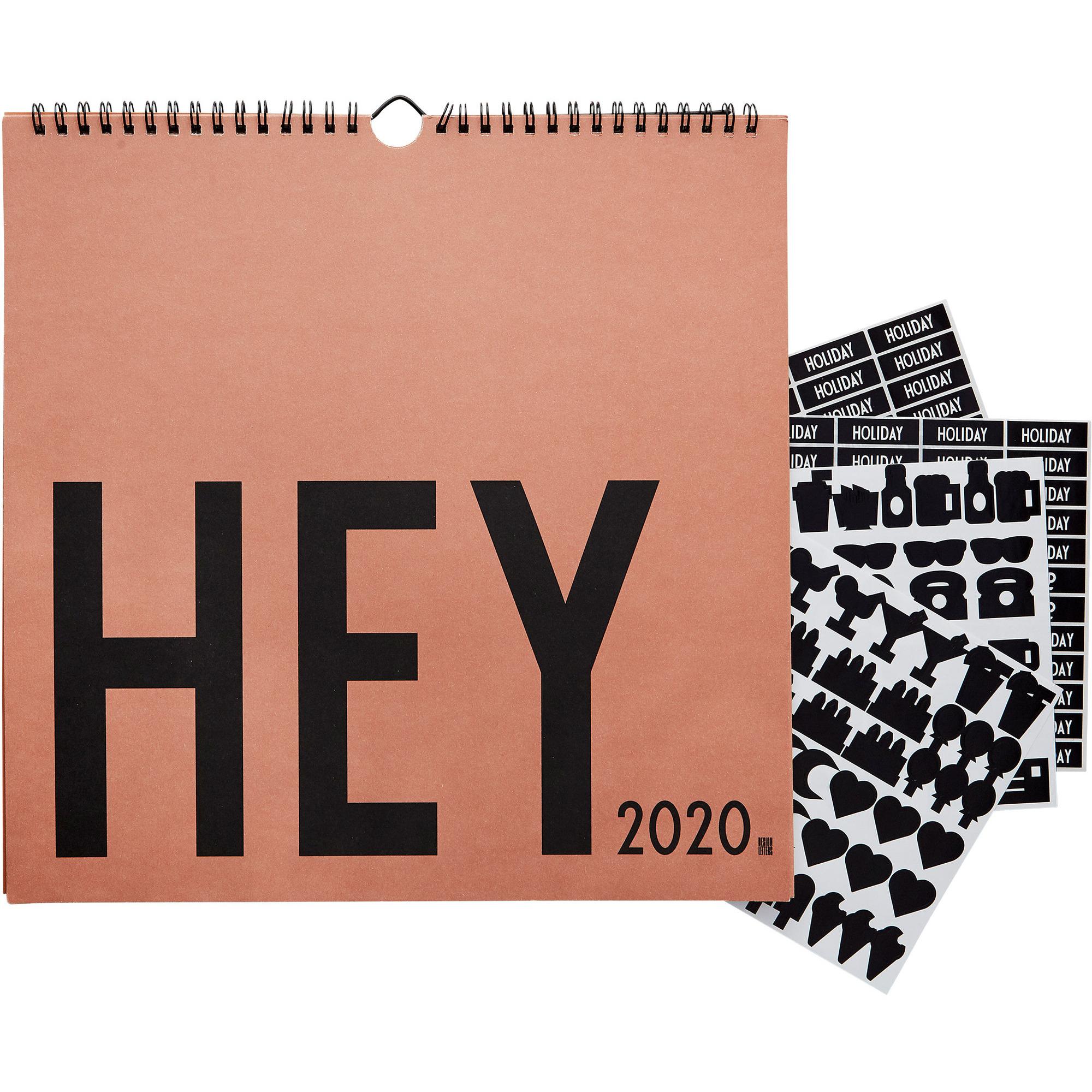 Design Letters Wall Calendar 2020 Beige