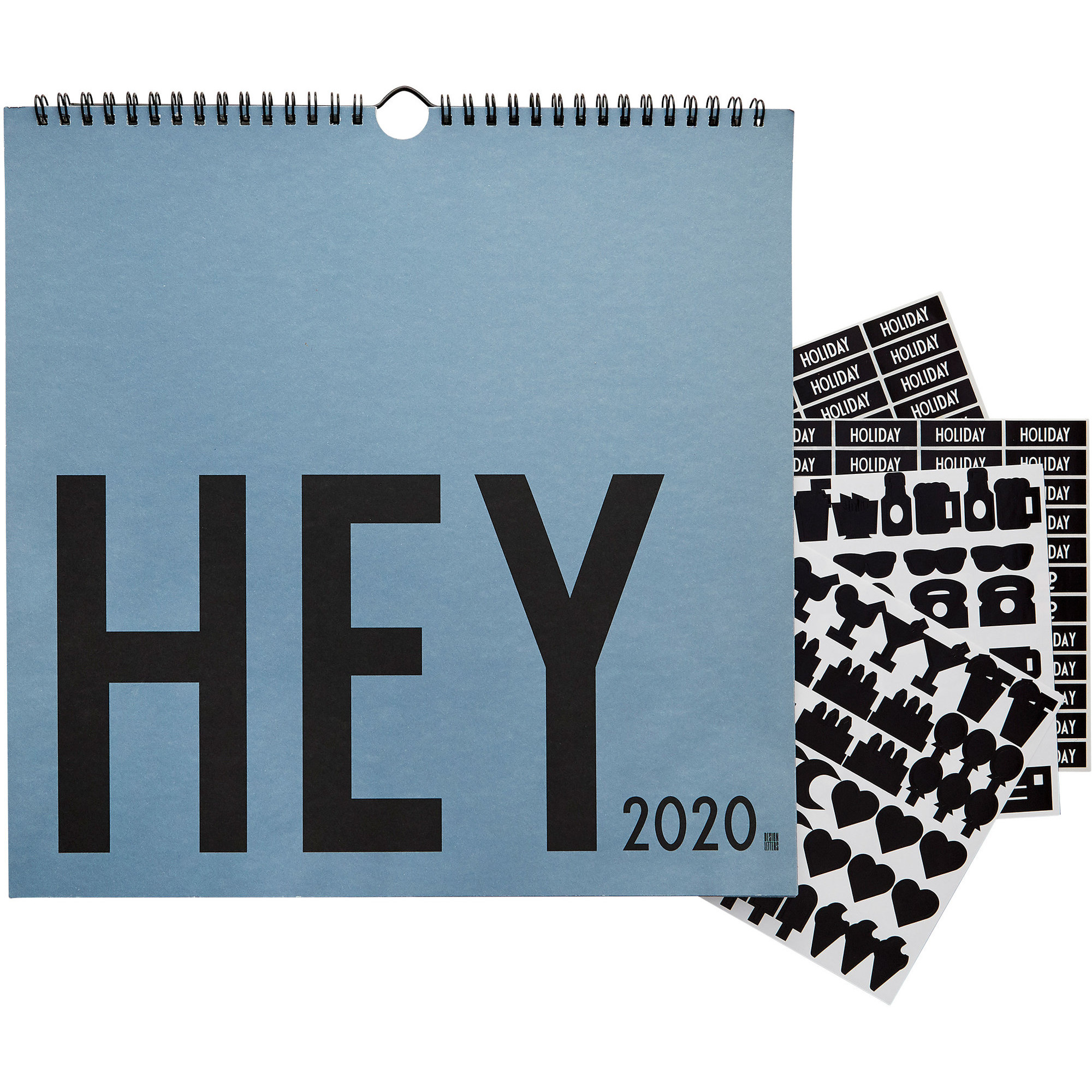 Design Letters Wall Calendar 2020 Blå