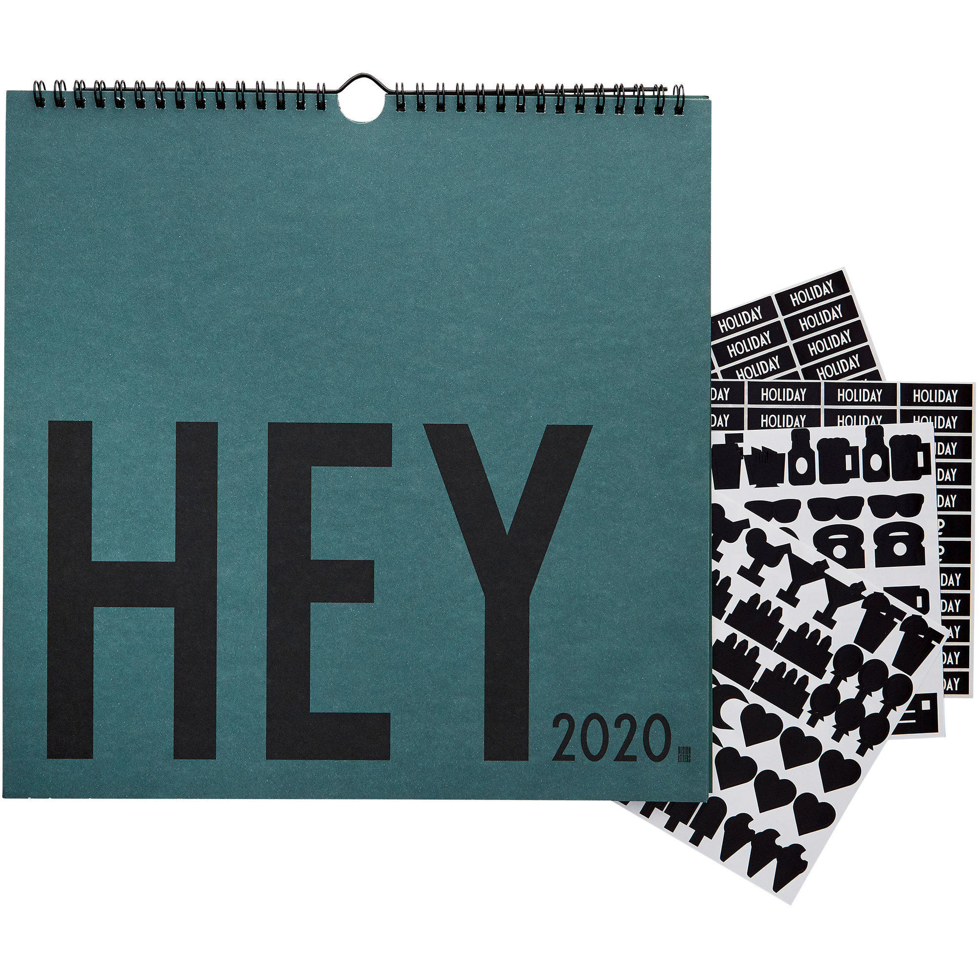 Design Letters Wall Calendar 2020 Grön