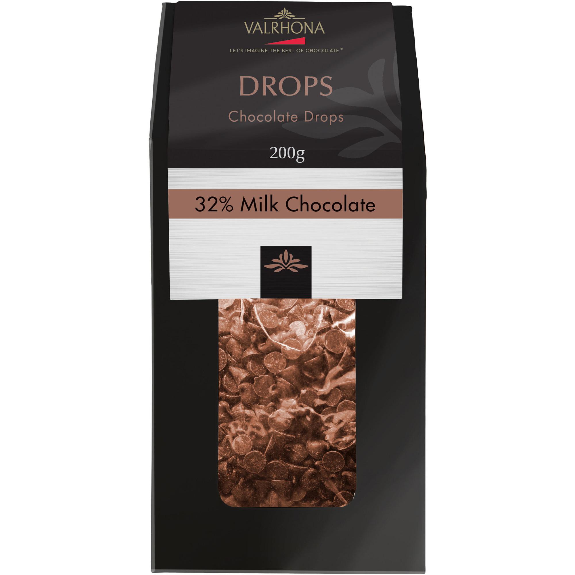 Valrhona Ljusa chokladdroppar 32 %