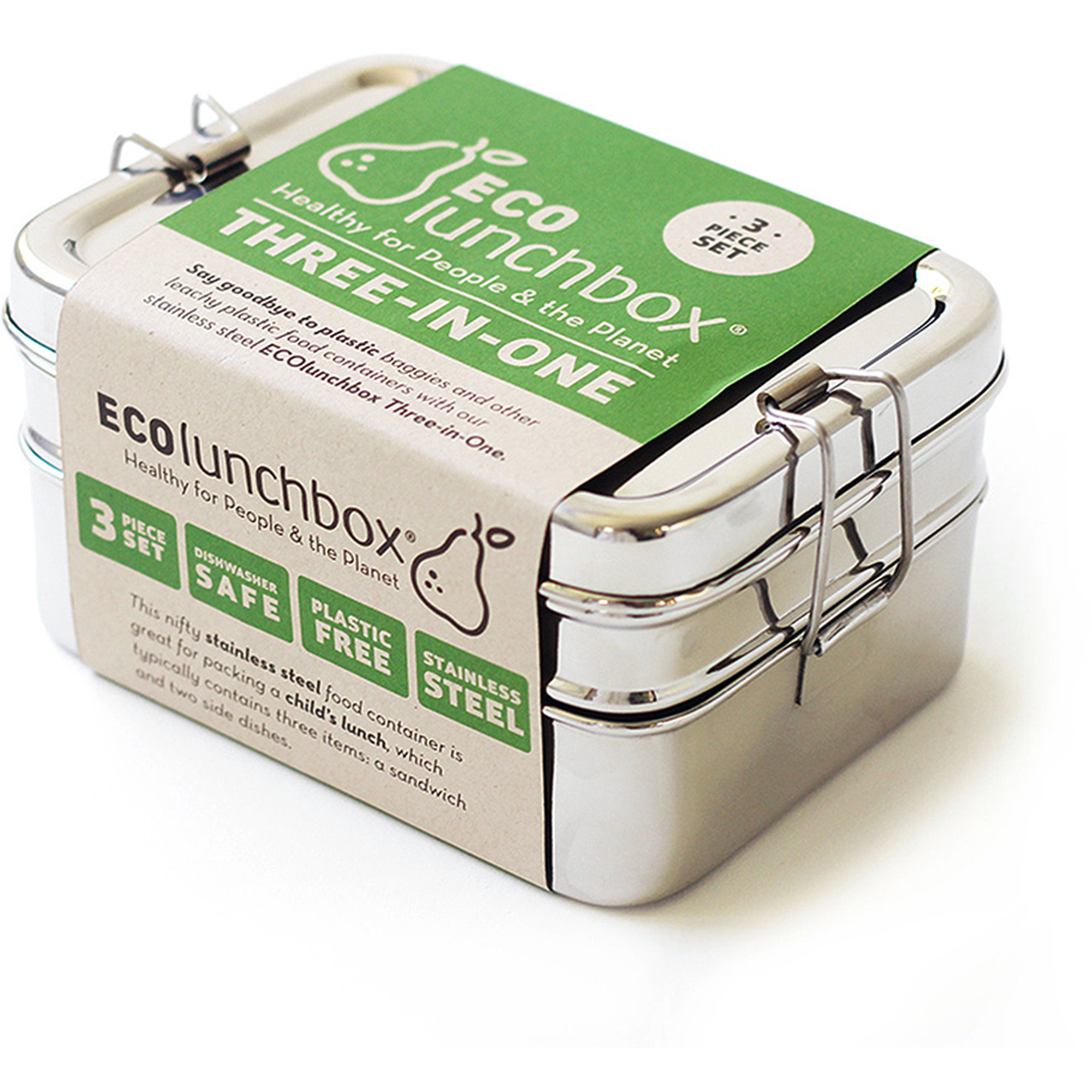 Kitchen Basic ECO Lunchbox Tre-i-Ett Matlåda Rostfritt Stål