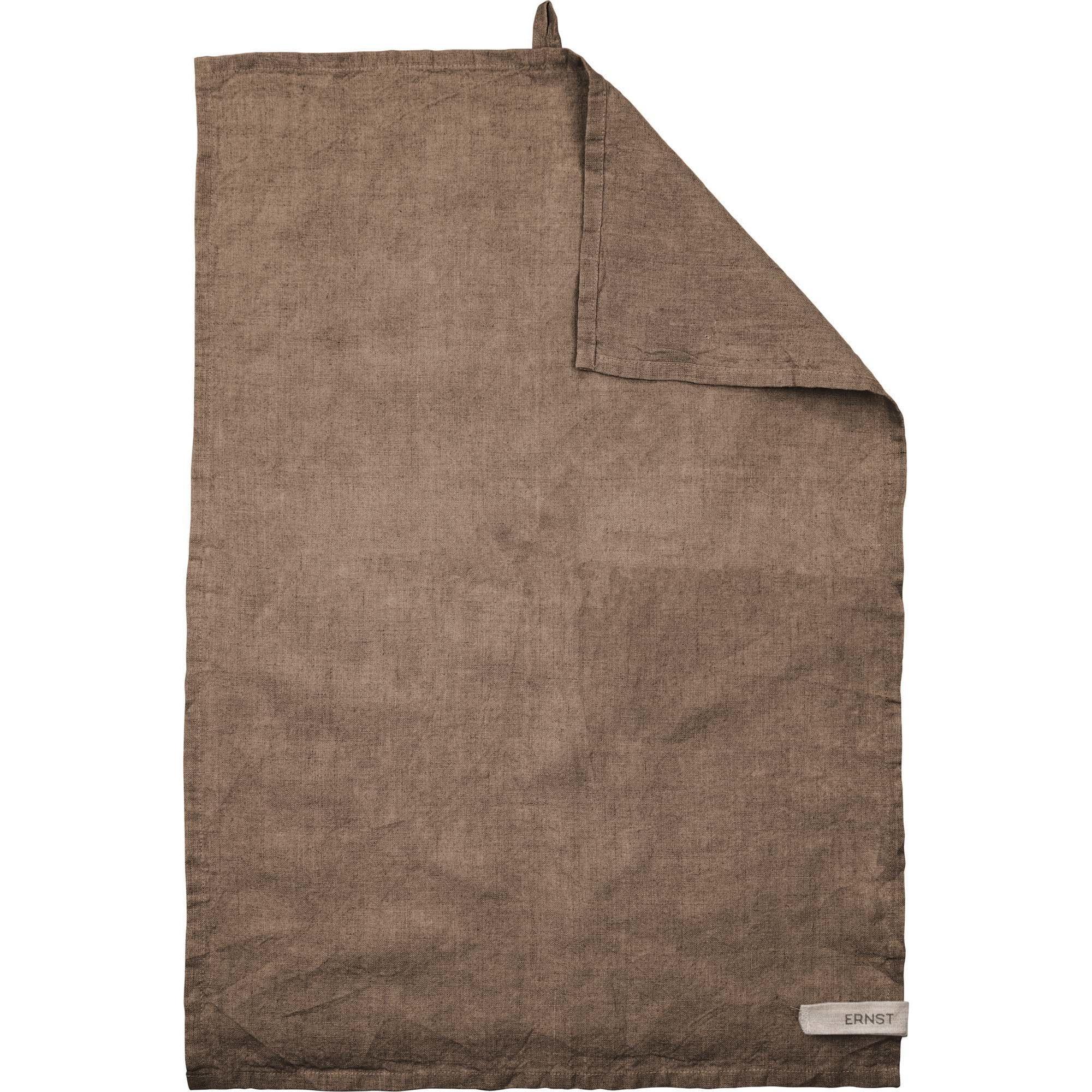 Ernst Kökshandduk linne 47×70 brun