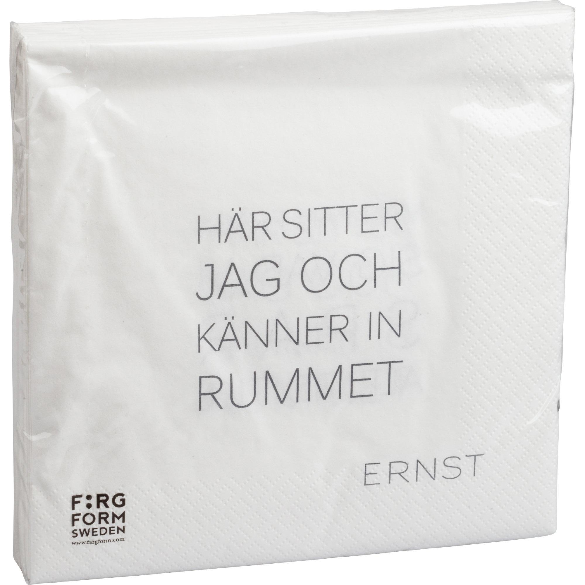 Ernst Servett Tid/Rum Vit