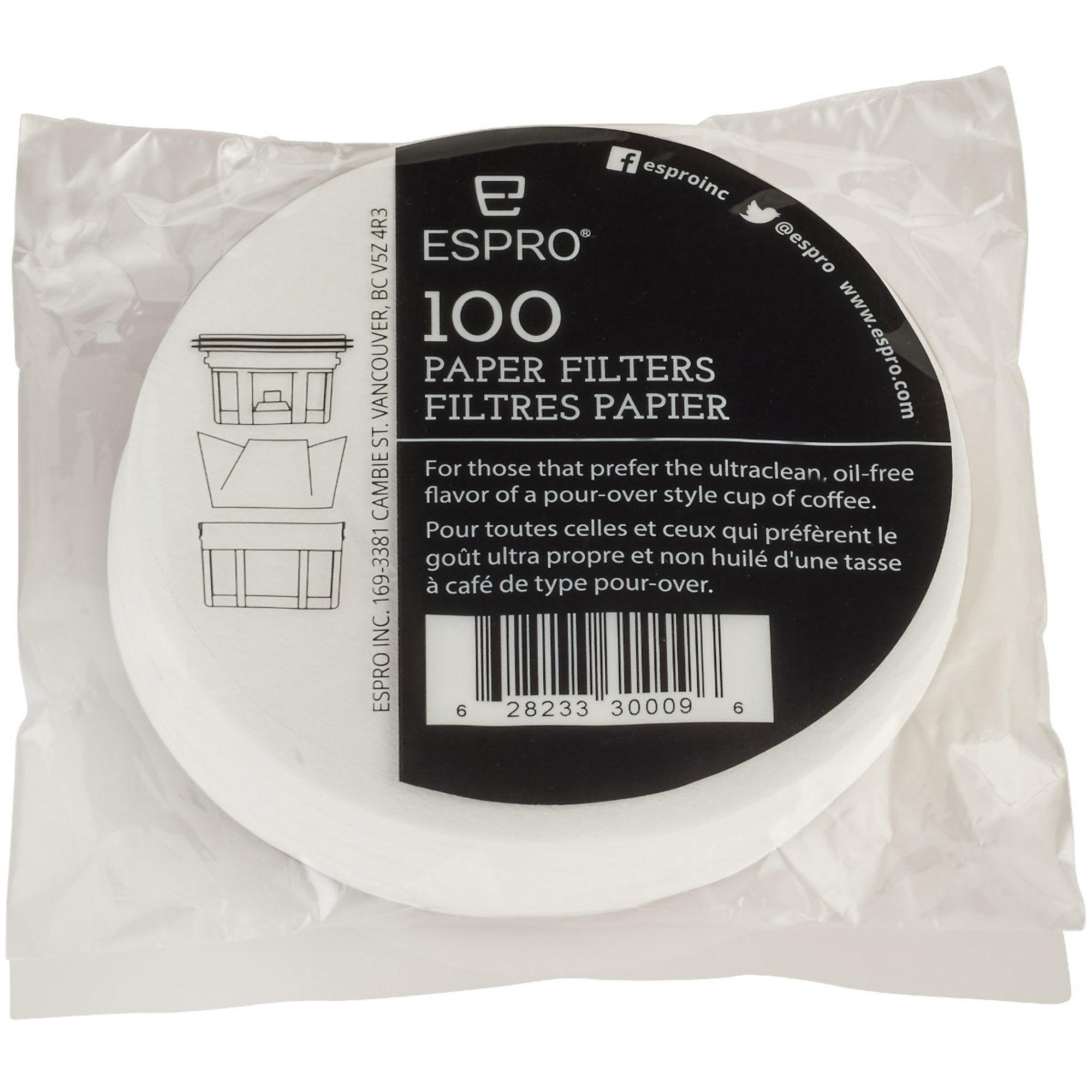 Espro 100 stk. pappersfilter till 025 liter