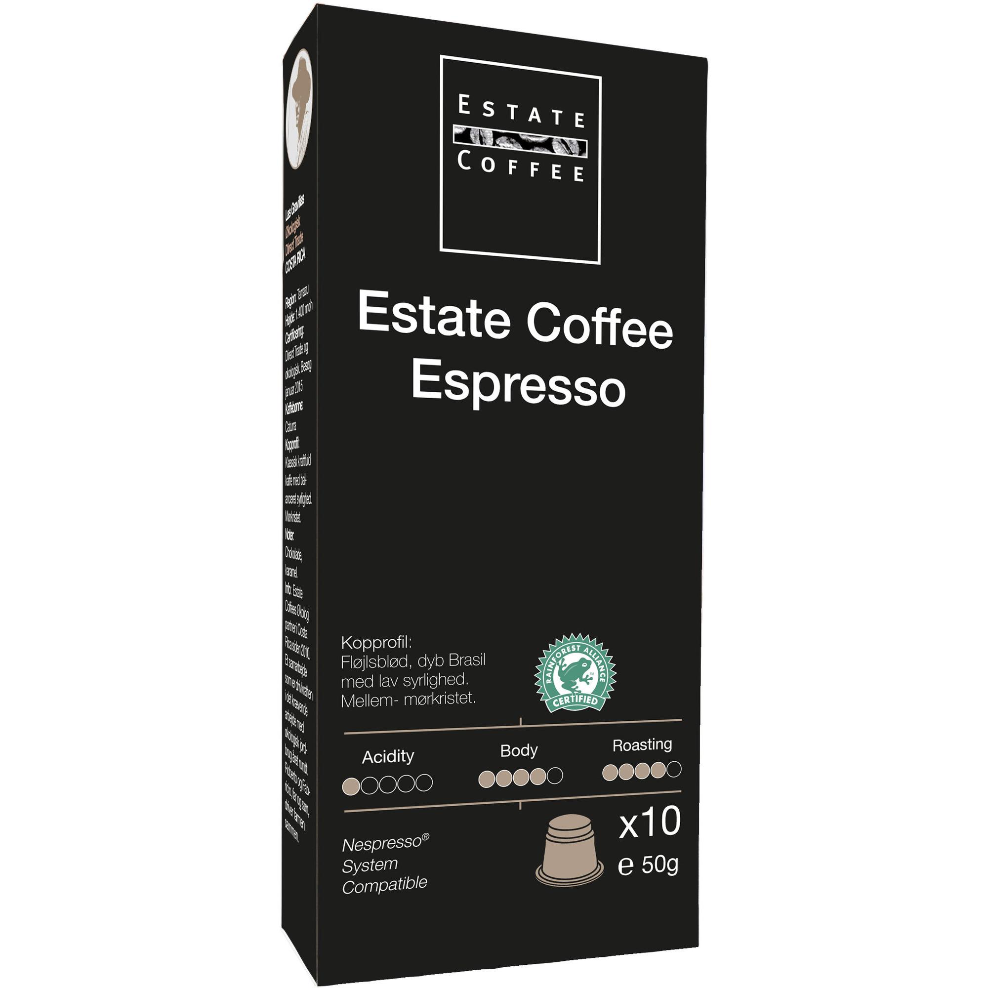 Estate Coffee Espresso Kaffekapslar