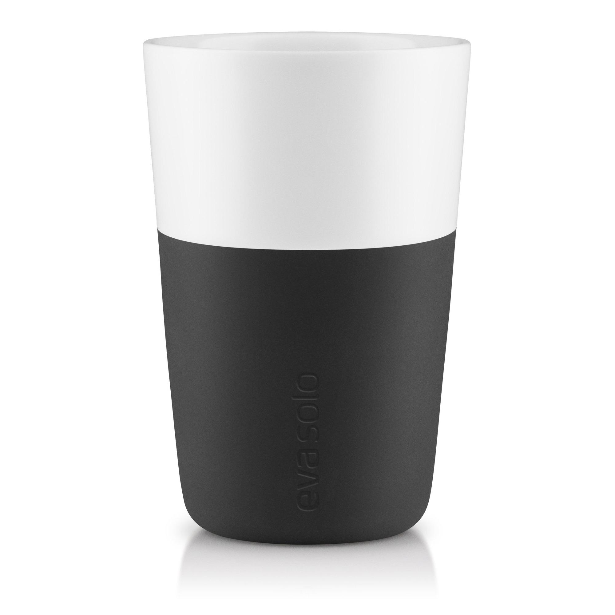 Cafe Latte krus, 2 stk. sort fra Eva Solo » Hurtig Levering